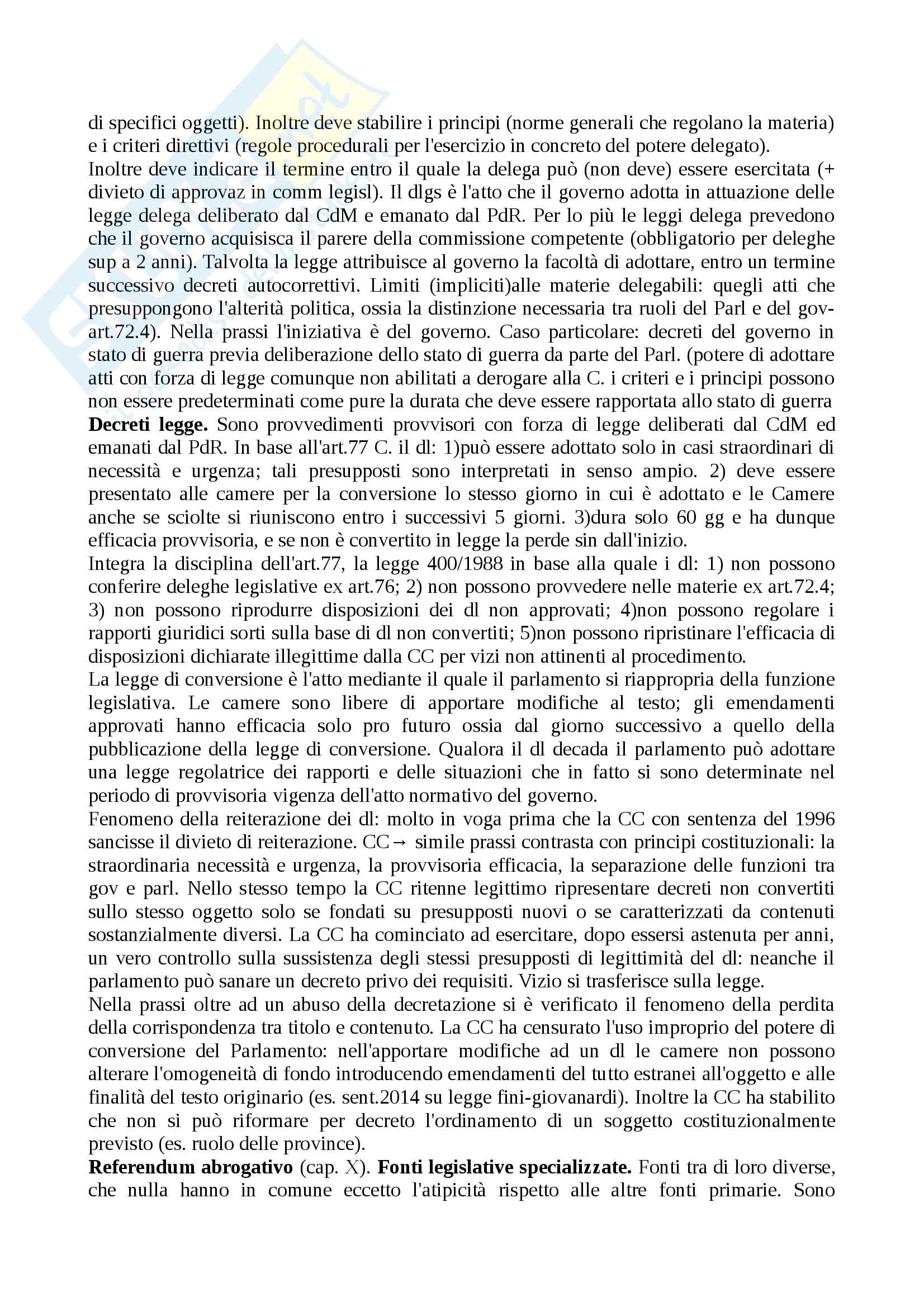 Riassunto esame diritto costituzionale, prof.Giupponi, libro consigliato Corso di diritto costituzionale, Barbera, Fusaro Pag. 11