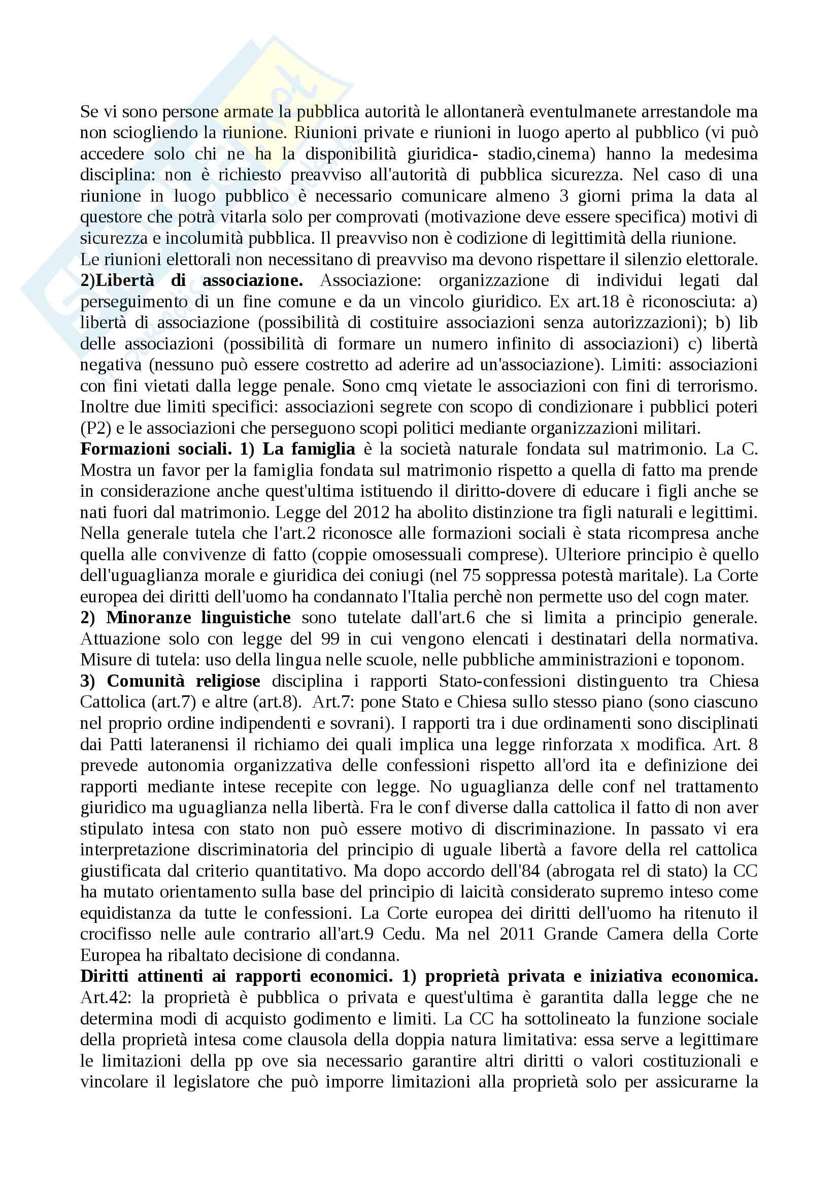 Riassunto esame diritto costituzionale, prof.Giupponi, libro consigliato Corso di diritto costituzionale, Barbera, Fusaro Pag. 21