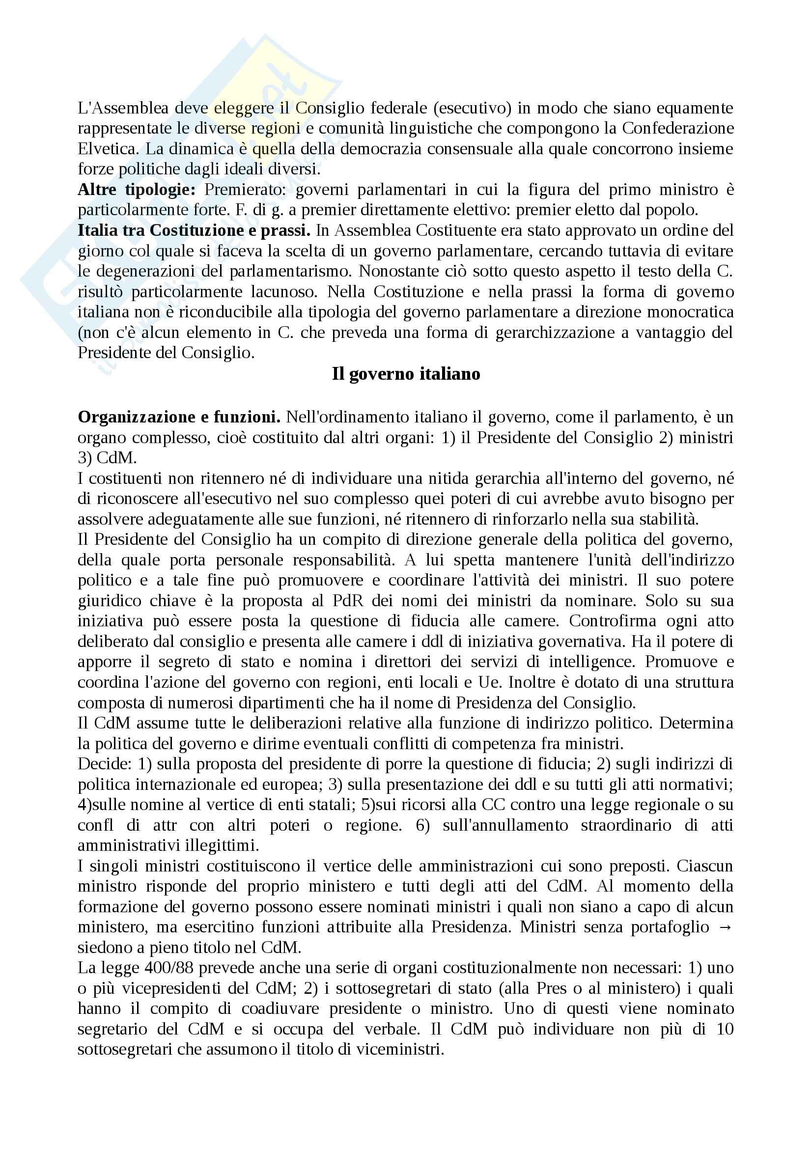 Riassunto esame diritto costituzionale, prof.Giupponi, libro consigliato Corso di diritto costituzionale, Barbera, Fusaro Pag. 31
