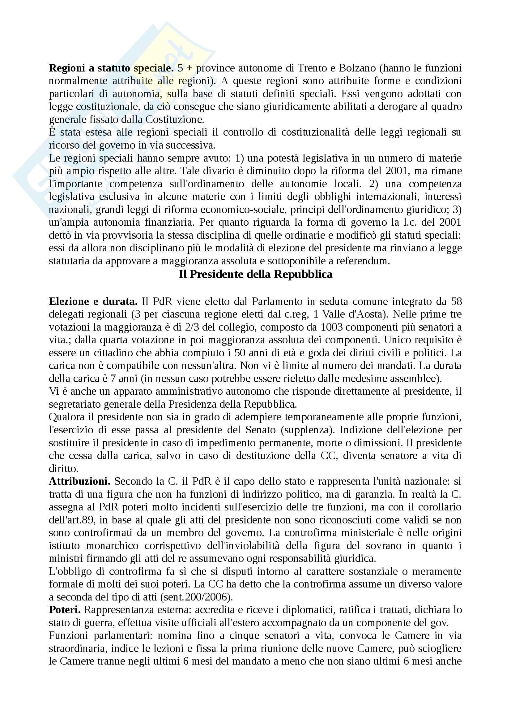 Riassunto esame diritto costituzionale, prof.Giupponi, libro consigliato Corso di diritto costituzionale, Barbera, Fusaro Pag. 36