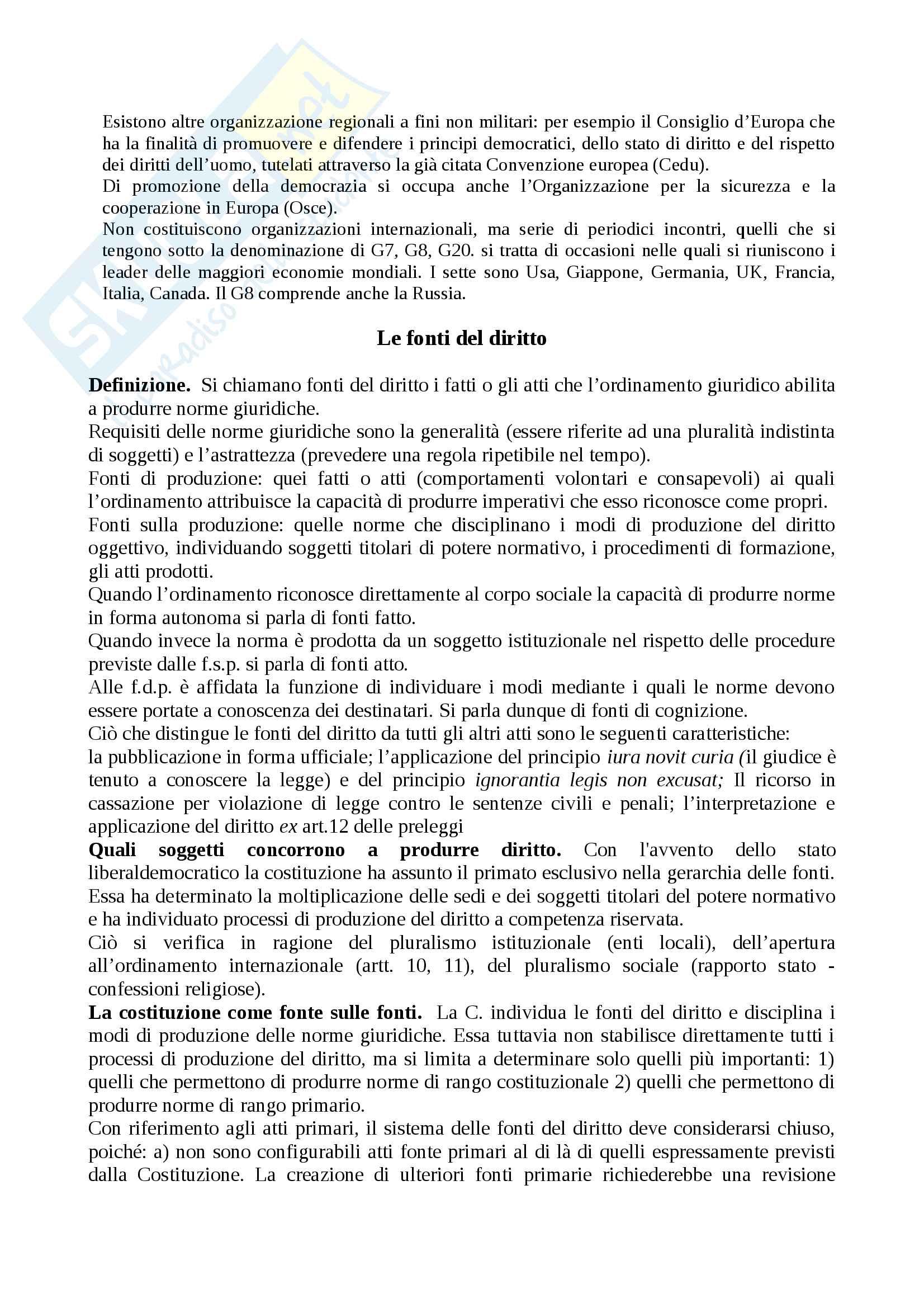 Riassunto esame diritto costituzionale, prof.Giupponi, libro consigliato Corso di diritto costituzionale, Barbera, Fusaro Pag. 6
