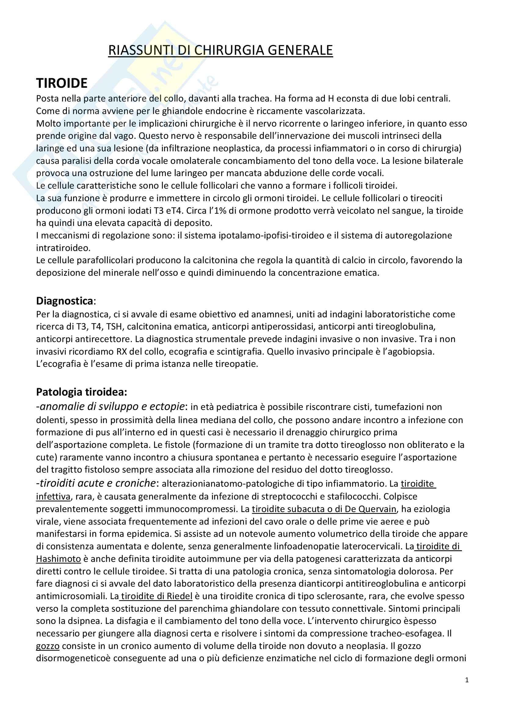 Appunti di Chirurgia Generale