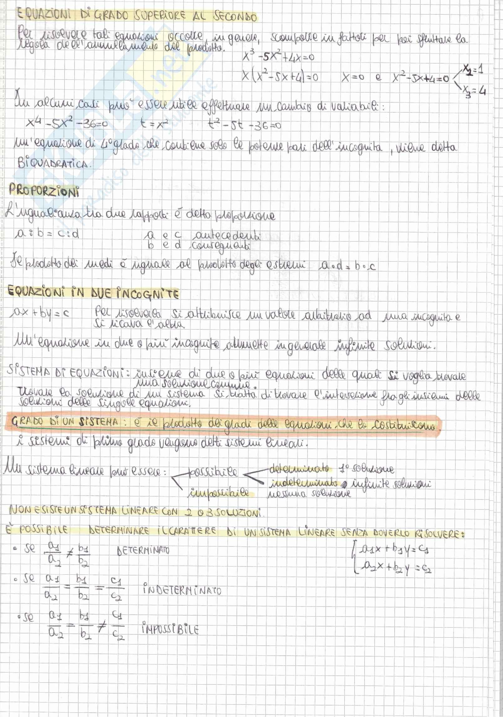 Tutti i quesiti di Matematica Alpha Test con soluzioni e riassunti per l'accesso alle Professioni sanitarie e Medicina Pag. 11