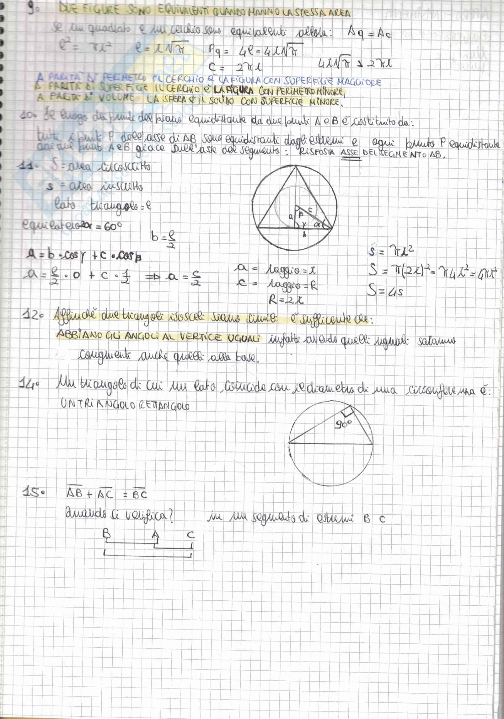 Tutti i quesiti di Matematica Alpha Test con soluzioni e riassunti per l'accesso alle Professioni sanitarie e Medicina Pag. 41
