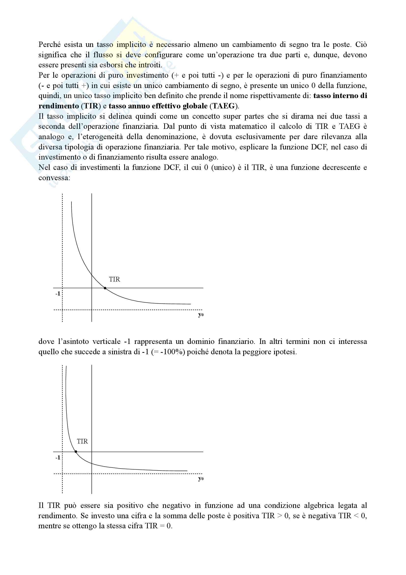 Matematica finanziaria, secondo parziale Pag. 2