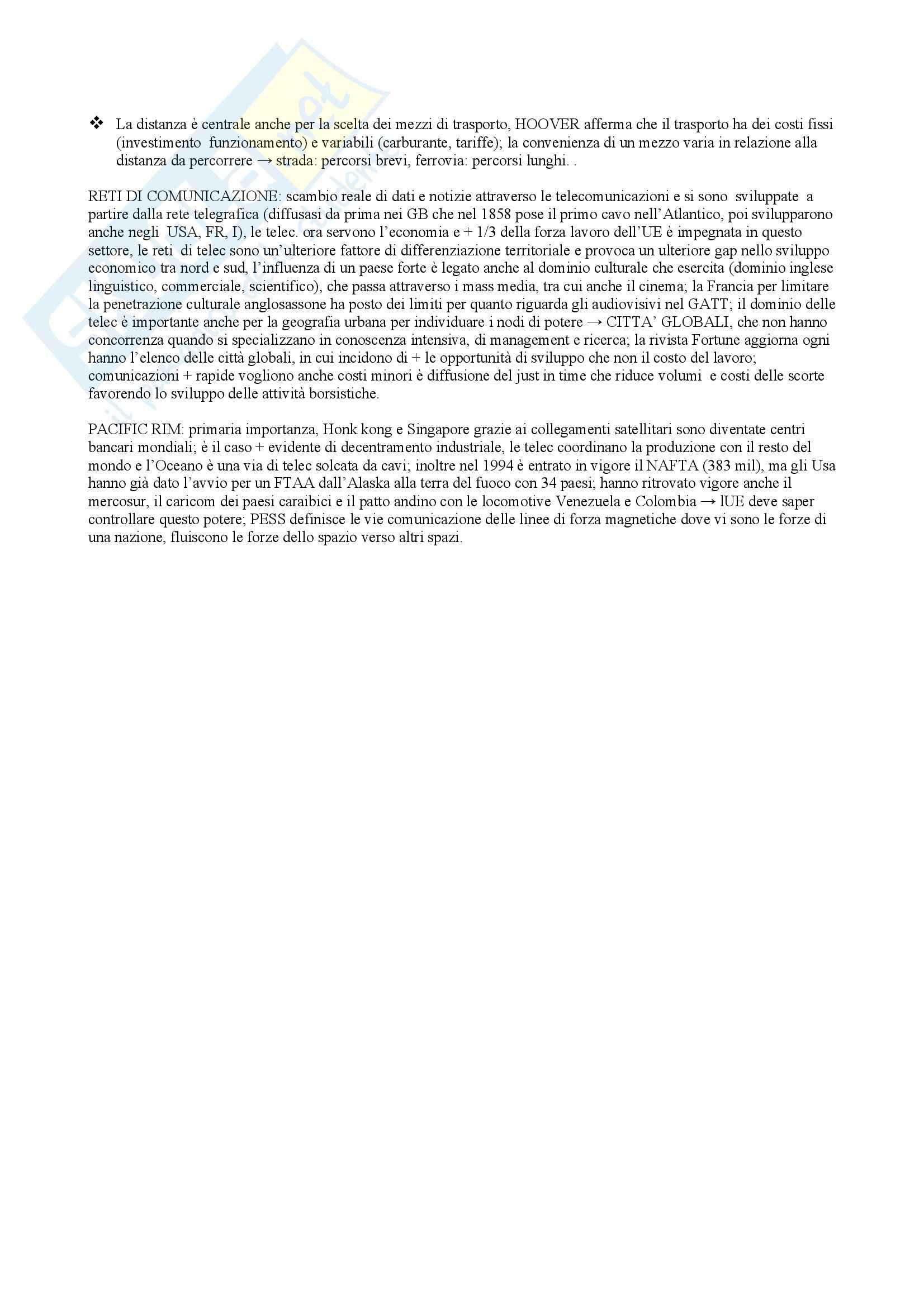 Riassunto esame Geografia Economica, prof. indefinito, libro consigliato Geopolitica, Lizza Pag. 56