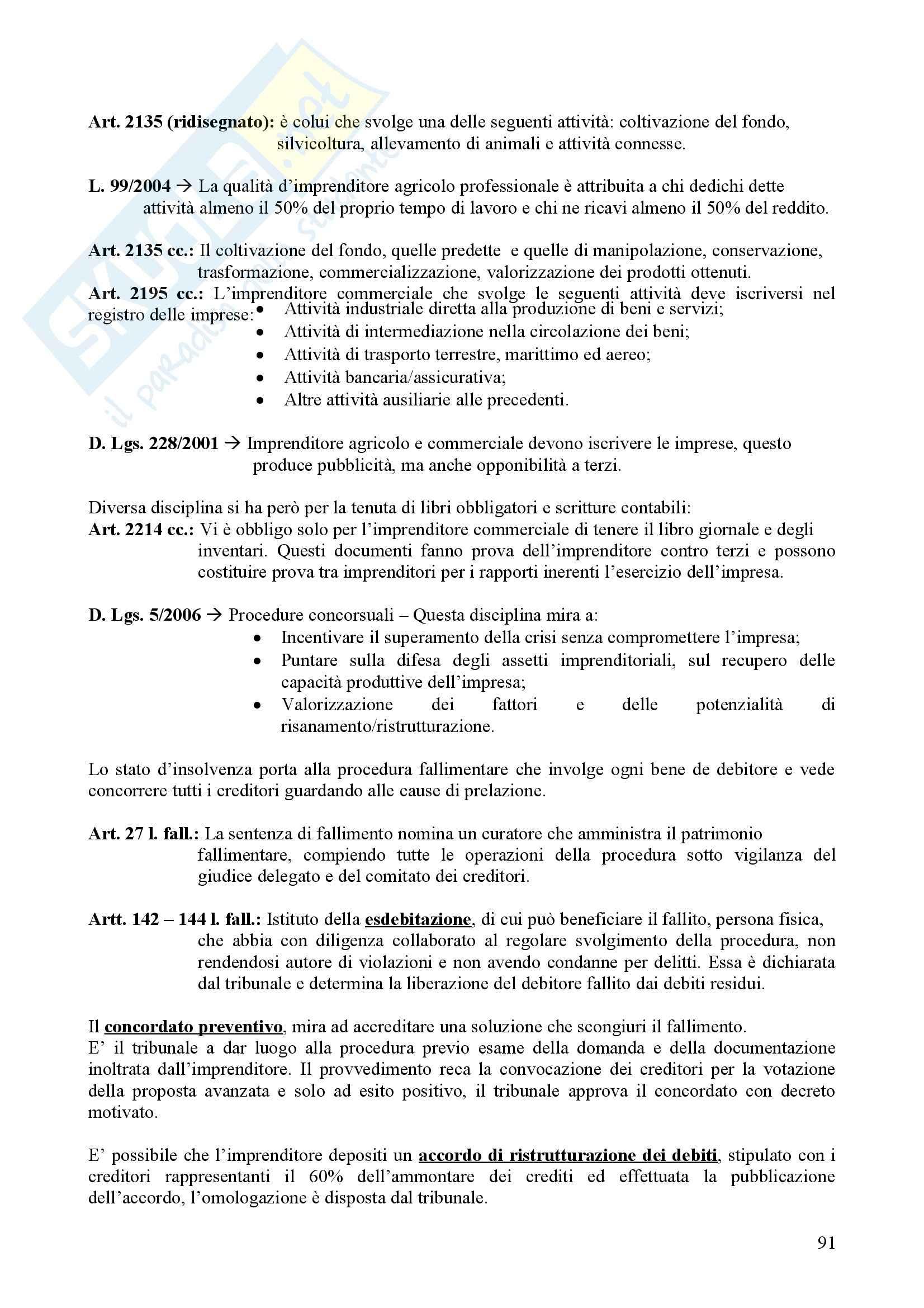 Riassunto esame Diritto, Diritto Privato 2, Grisi, prof. Quadri Pag. 91
