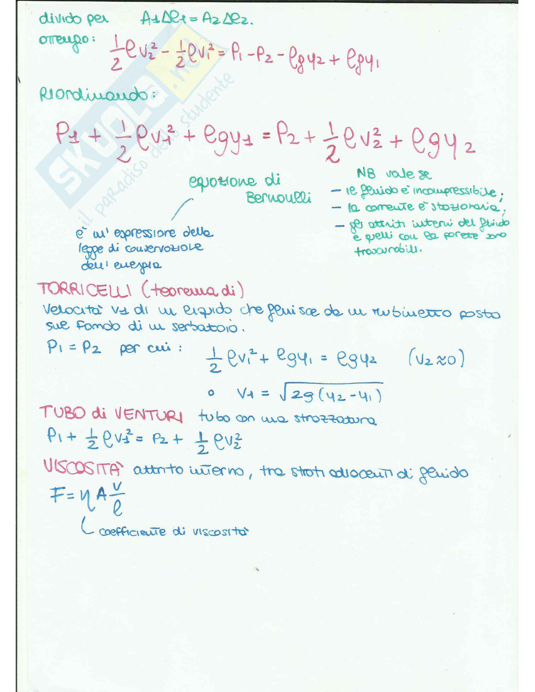 Appunti di Fisica Applicata (fluidodinamica) Pag. 16