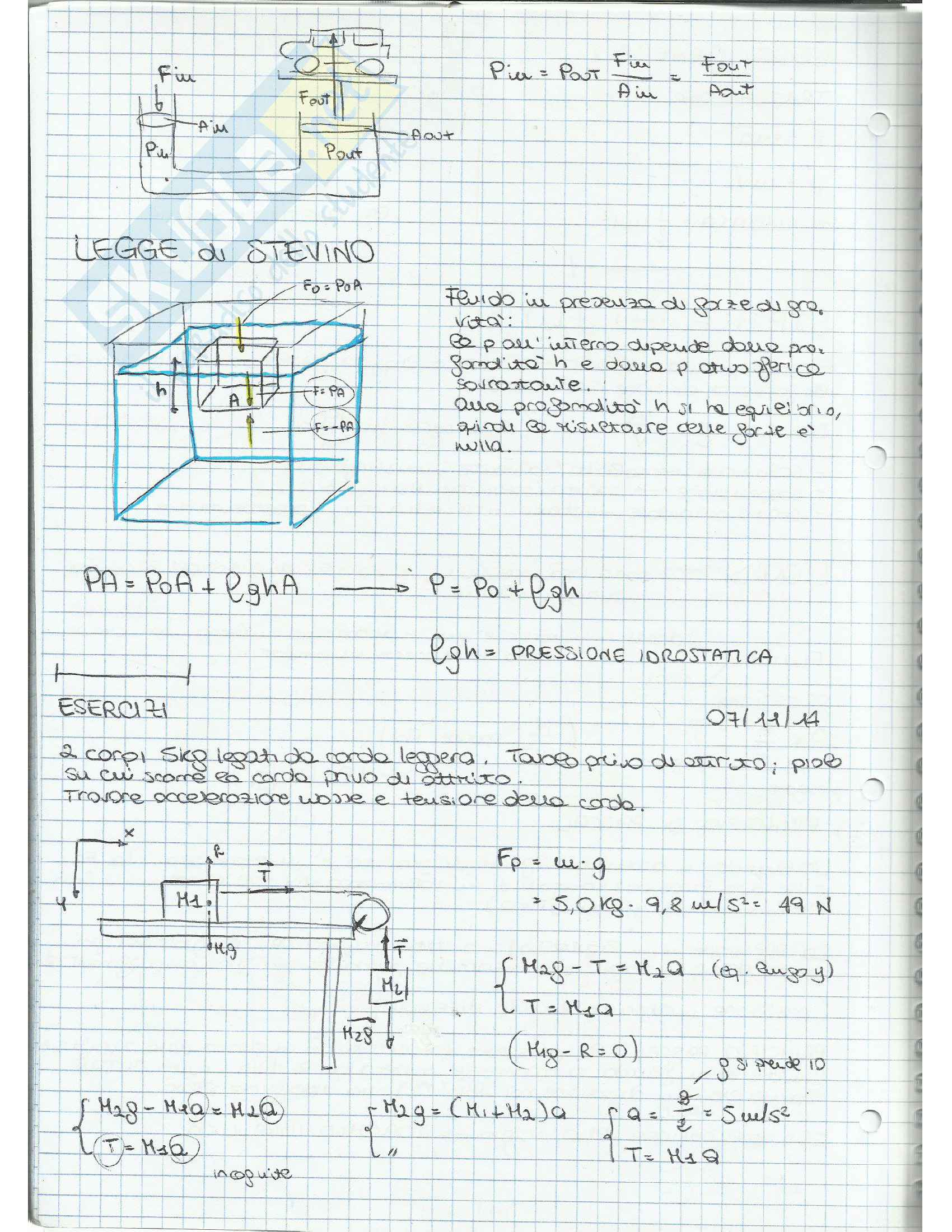 Appunti di Fisica Applicata (fluidodinamica) Pag. 2