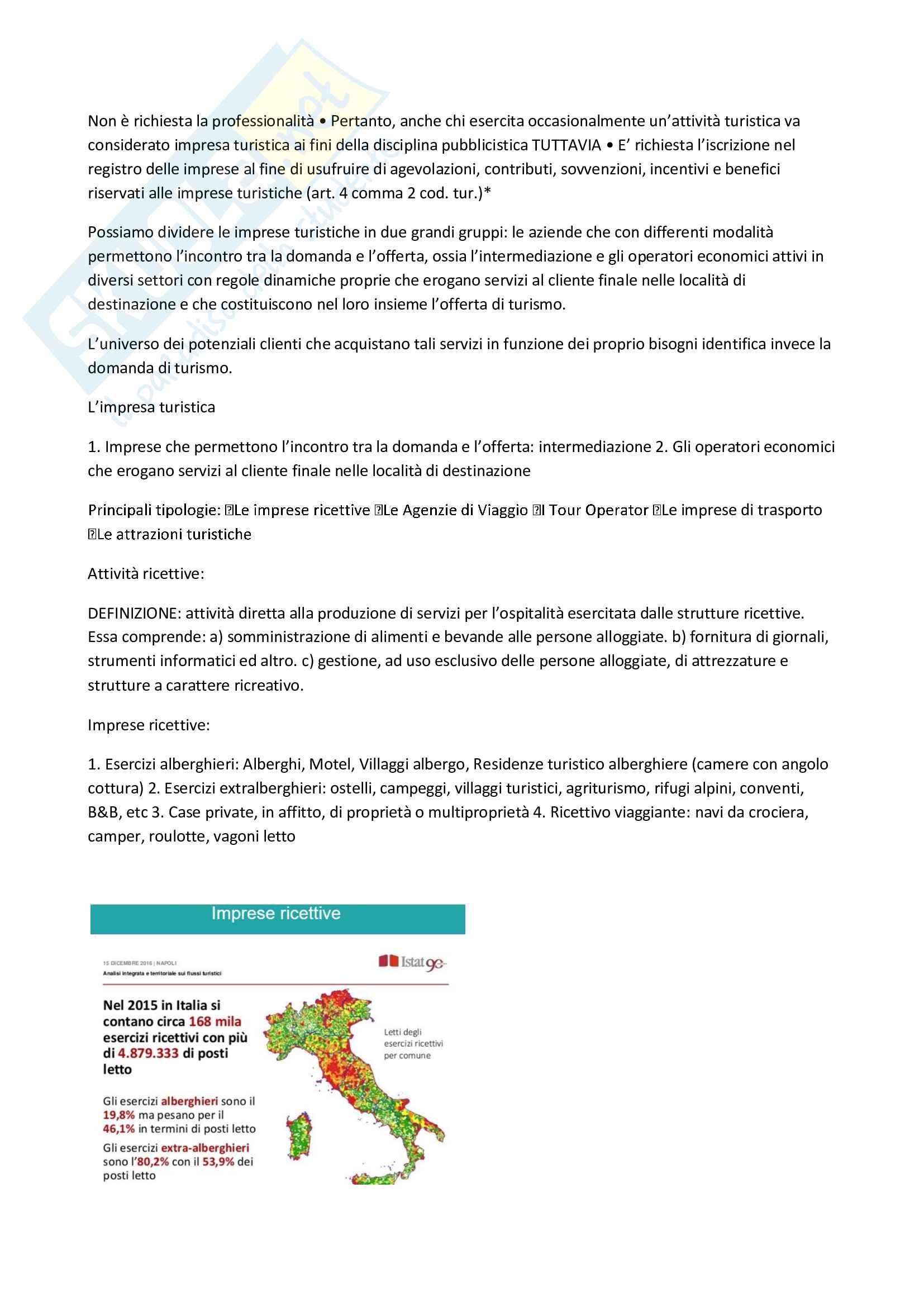 Riassunto esame management delle imprese turistiche, prof. Gasbarro, libro consigliato Economia e gestione delle imprese turistiche, 2015, Garibaldi Pag. 2