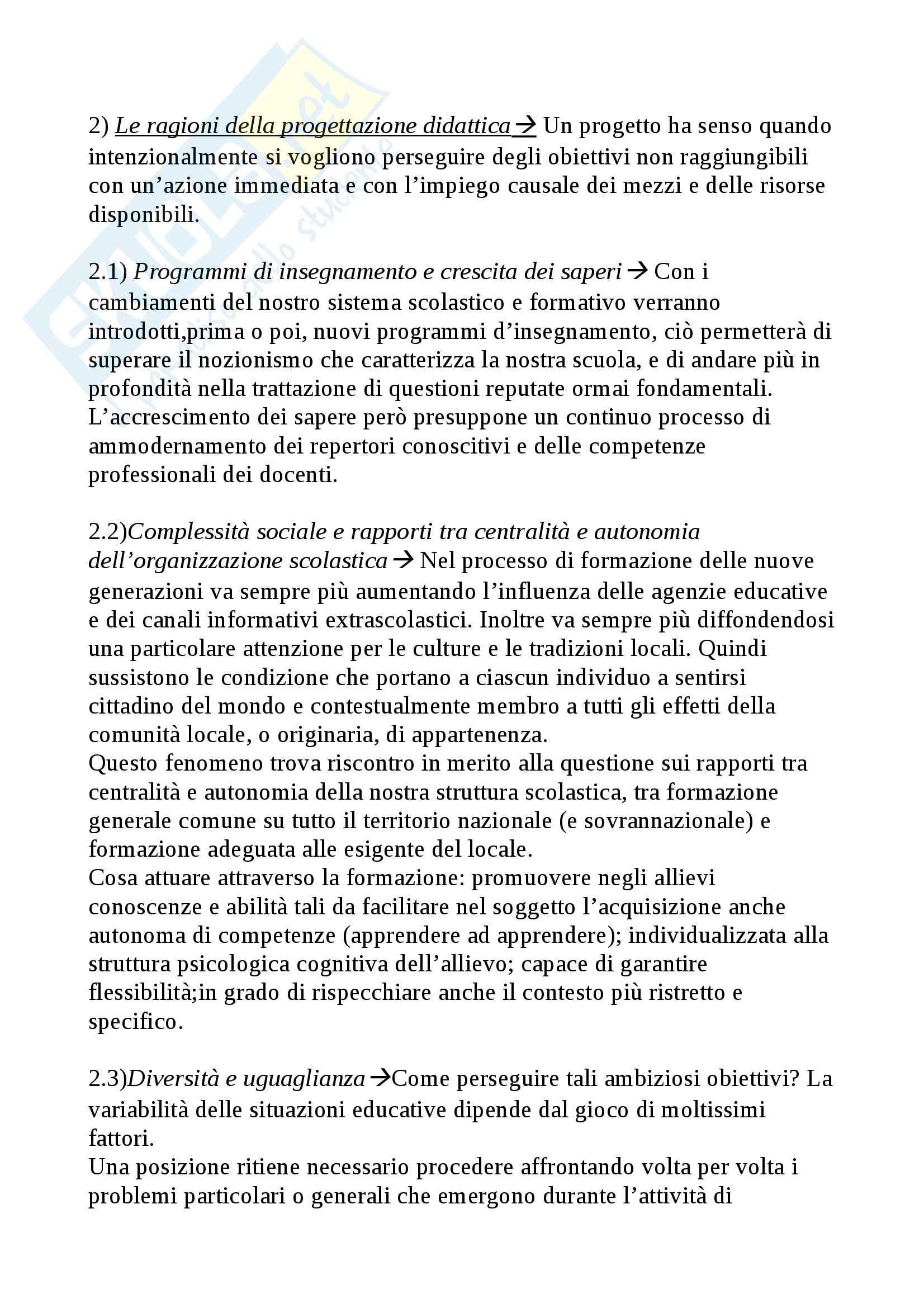 Riassunto esame Didattica Generale, prof. Isidori, libro consigliato Manuale della Valutazione Scolastica, Domenici Pag. 6