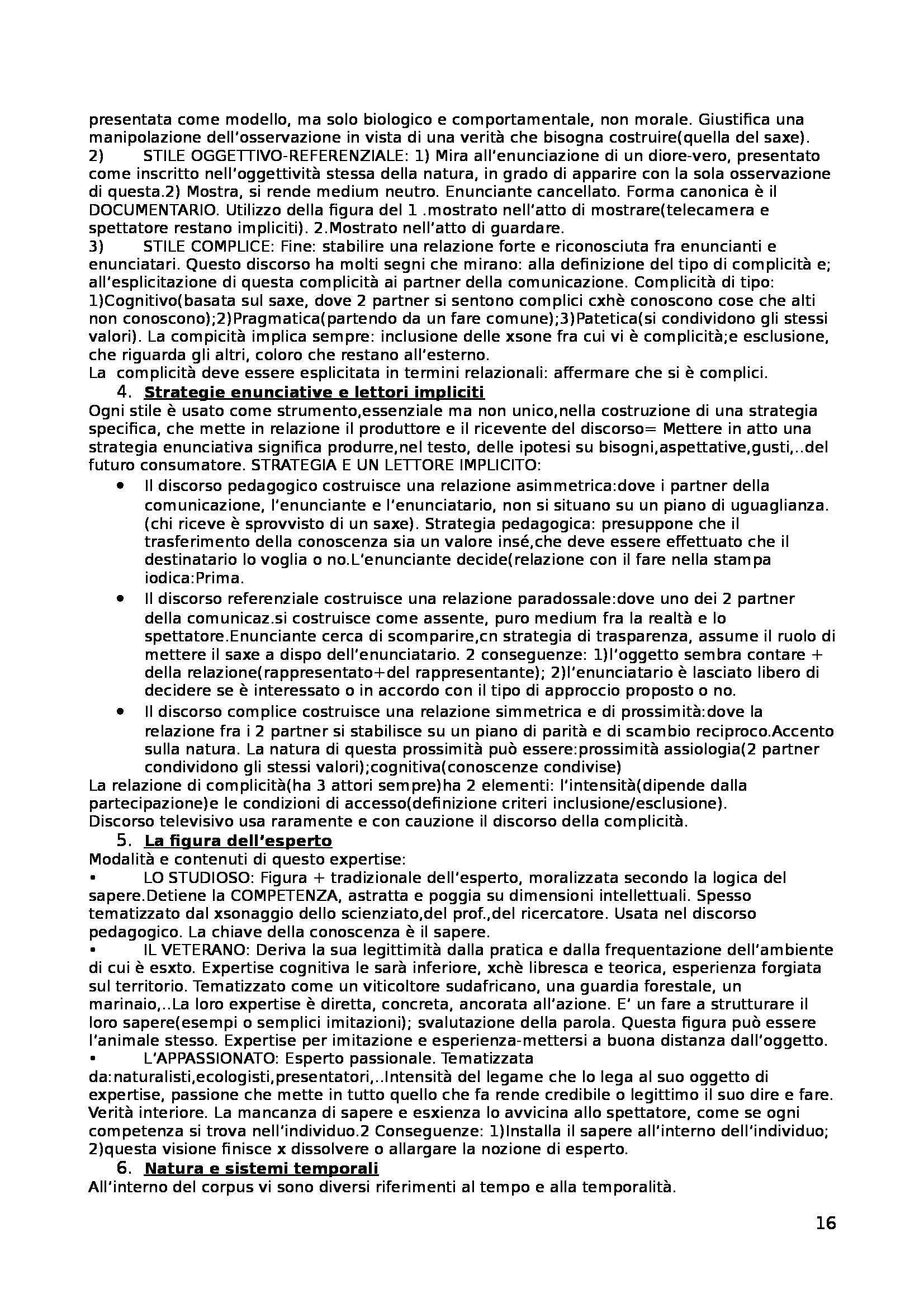 Riassunto esame Linguaggi Politici, prof. Bellini, libro consigliato Analizzare la comunicazione. Come analizzare la pubblicità, Semprini Pag. 16
