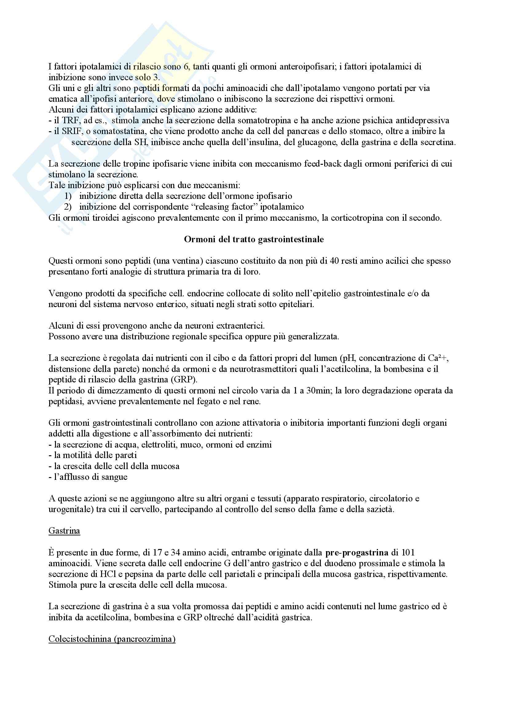 Biochimica II – Ormoni Pag. 16
