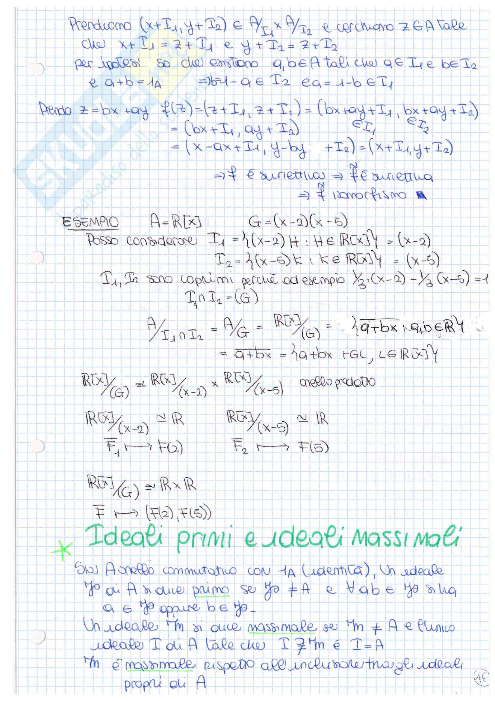Lezioni, Algebra due Pag. 31
