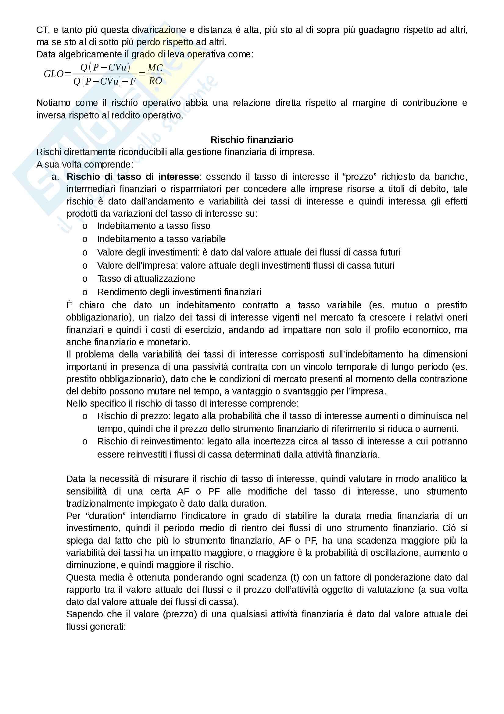 Riassunto esame Finanza aziendale, docente Alberto Manelli, libro consigliato Finanza di impresa di Alberto Manelli Pag. 116