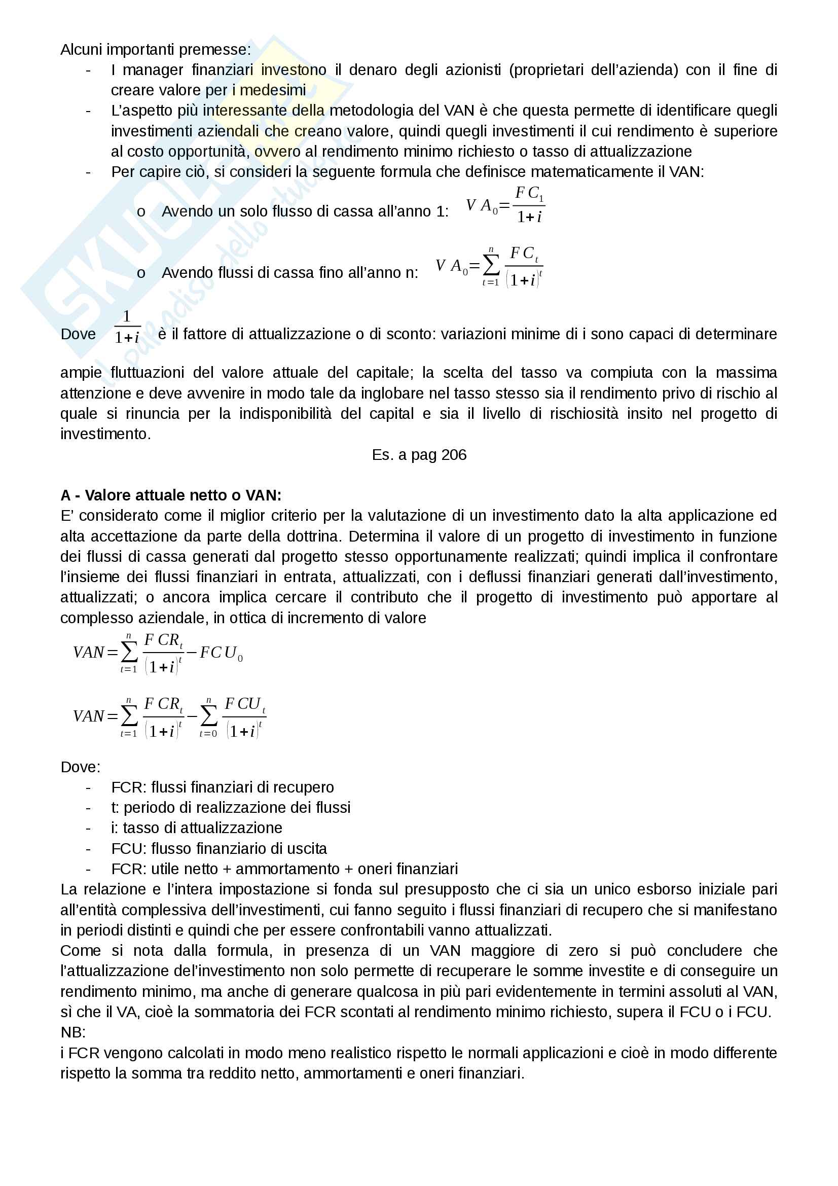 Riassunto esame Finanza aziendale, docente Alberto Manelli, libro consigliato Finanza di impresa di Alberto Manelli Pag. 76