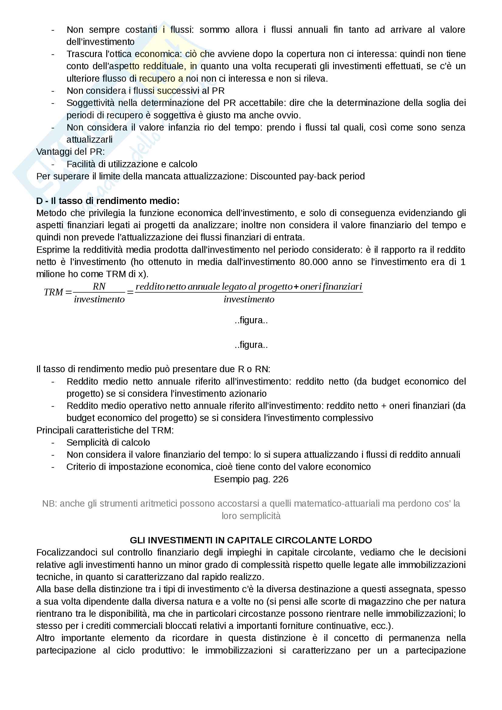 Riassunto esame Finanza aziendale, docente Alberto Manelli, libro consigliato Finanza di impresa di Alberto Manelli Pag. 81