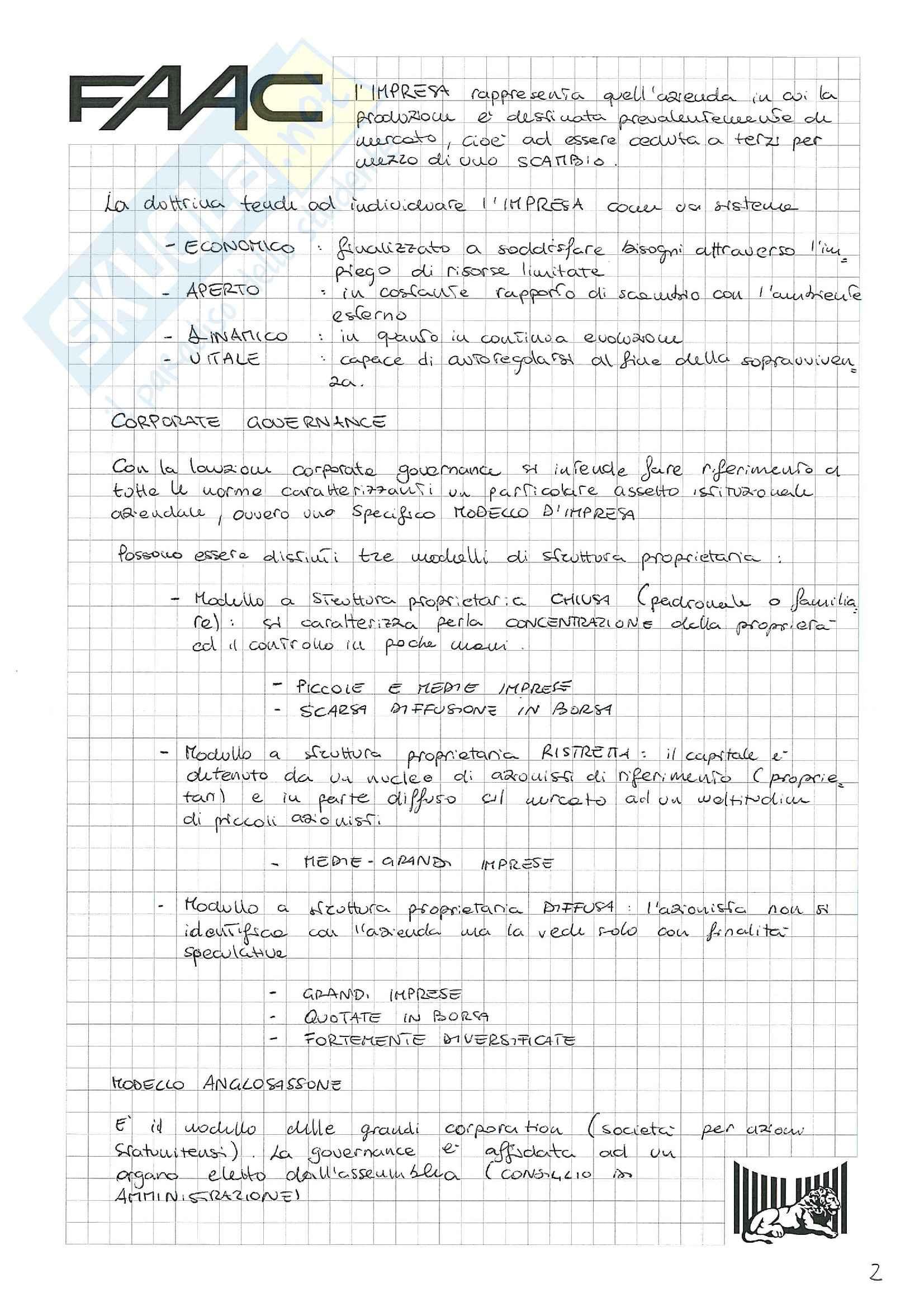 Riassunto esame Economia e gestione delle imprese, prof. Santovito, libro consigliato La gestione d'impresa, Scicutella Pag. 2