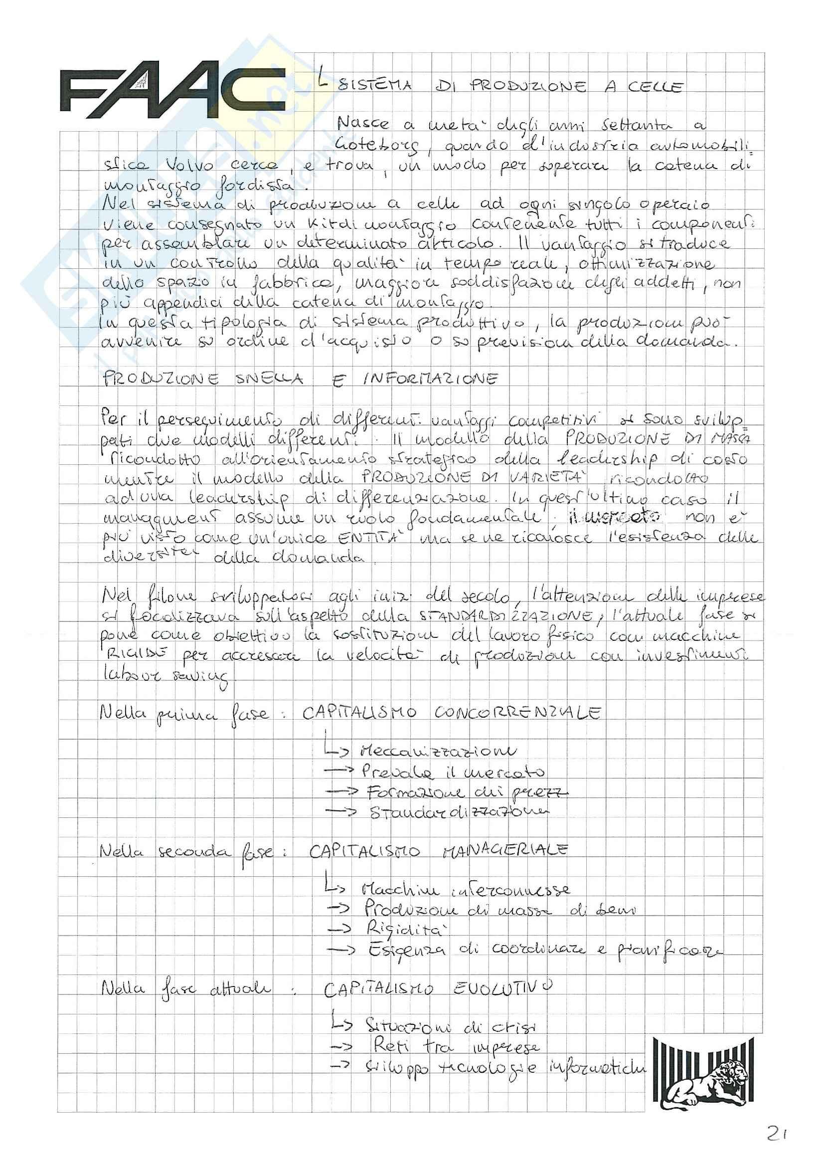 Riassunto esame Economia e gestione delle imprese, prof. Santovito, libro consigliato La gestione d'impresa, Scicutella Pag. 21