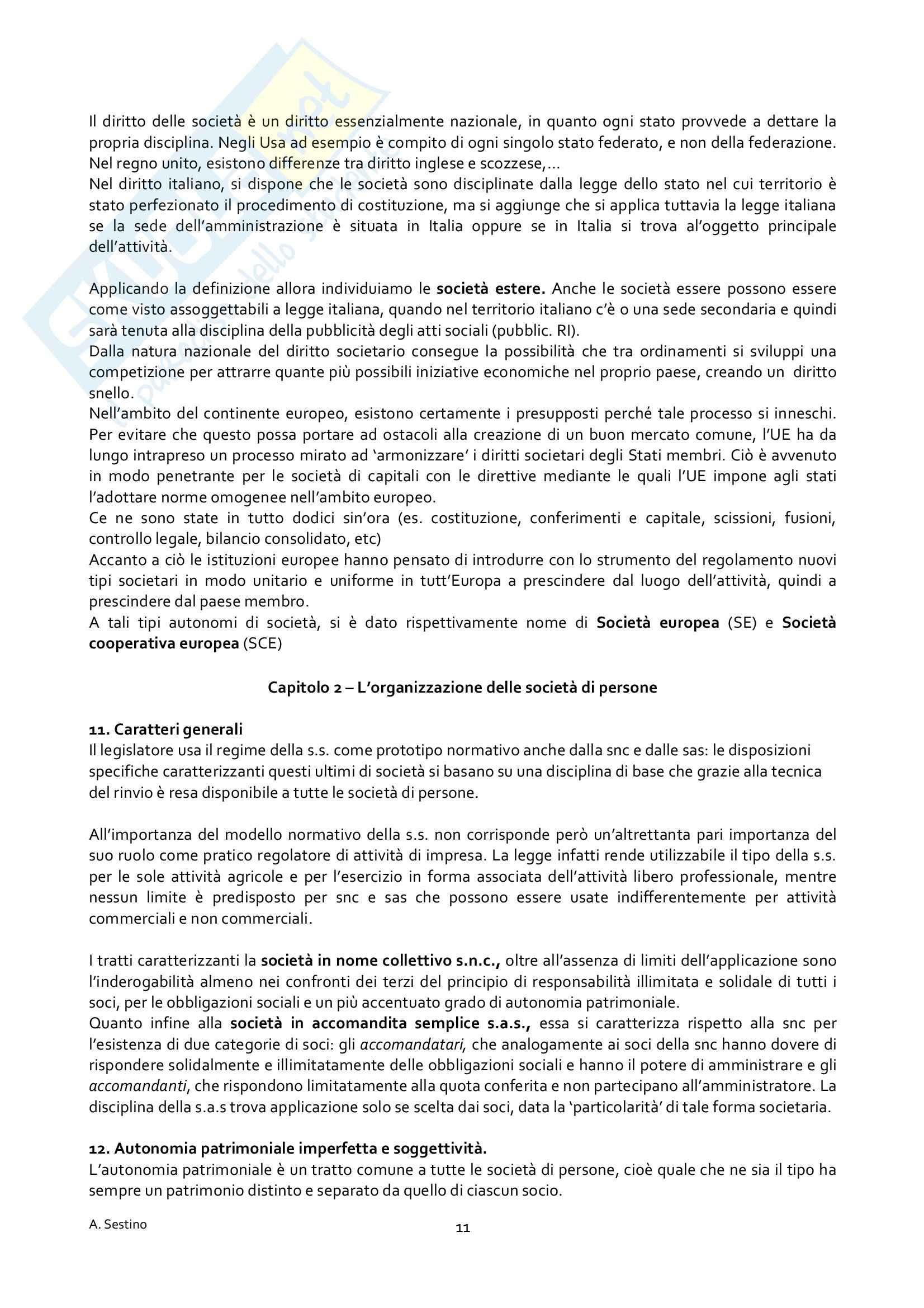 Riassunto esame Diritto Commerciale, prof. Dell'Atti, libro consigliato Manuale Breve: Diritto delle Società Pag. 11
