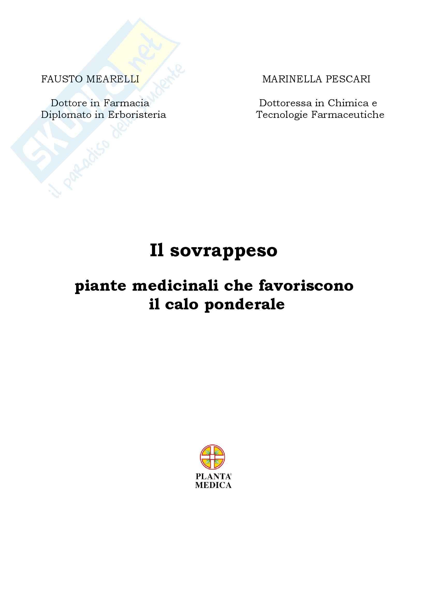 Farmacologia - sovrappeso e piante medicinali