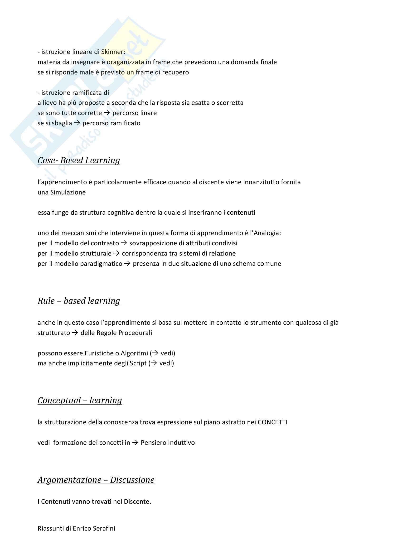 Riassunto esame Psicologia Cognitiva Applicata, docente Antonietti, libro consigliato Come si Impara, Antonietti Pag. 6