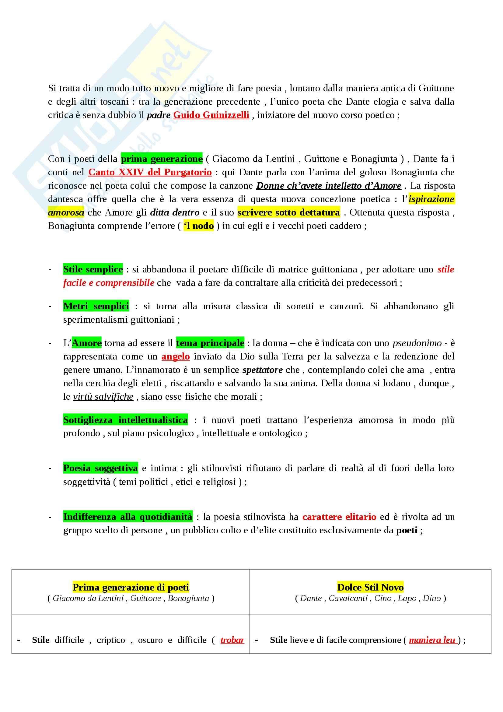 Riassunto esame Letteratura Italiana: La Letteratura Italiana, dalle Origini al Secondo Ottocento, prof. Paolino Pag. 16