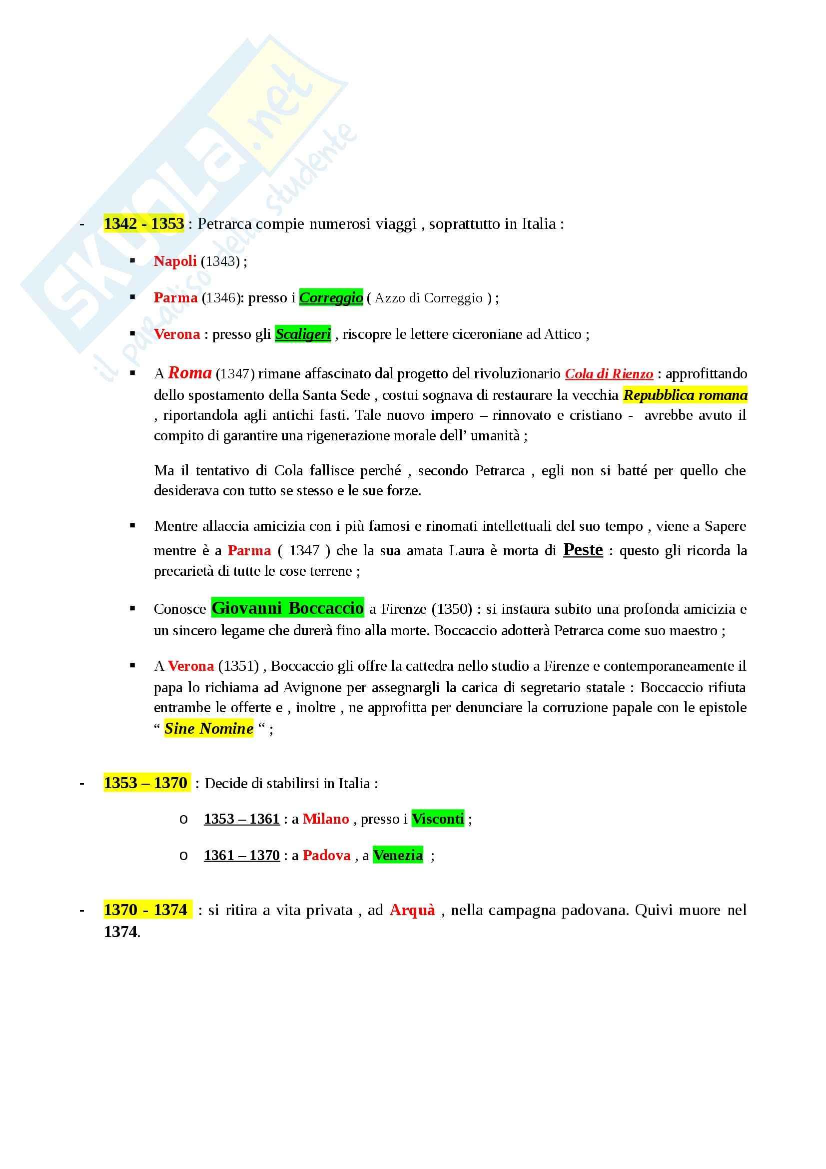 Riassunto esame Letteratura Italiana: La Letteratura Italiana, dalle Origini al Secondo Ottocento, prof. Paolino Pag. 41