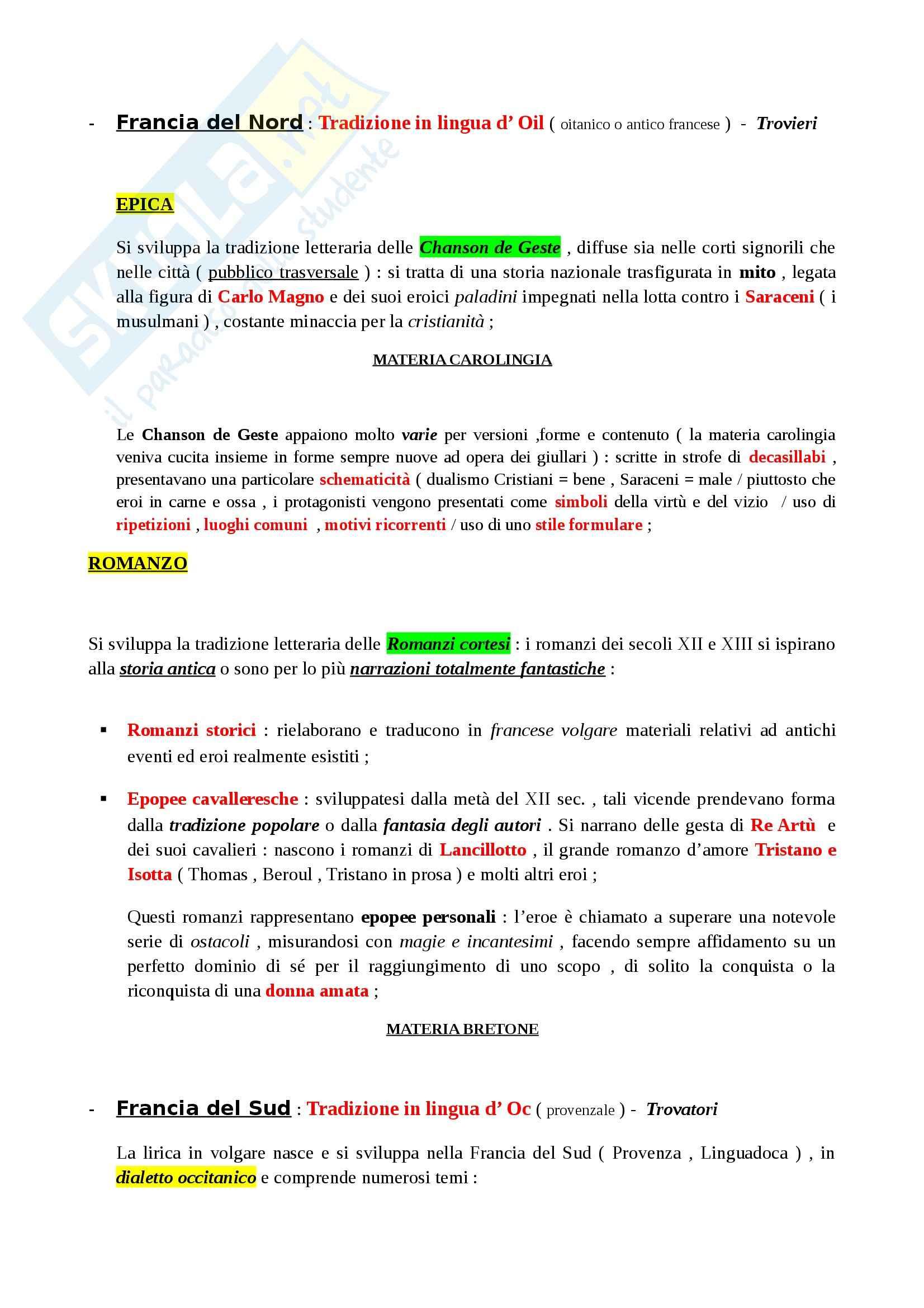 Riassunto esame Letteratura Italiana: La Letteratura Italiana, dalle Origini al Secondo Ottocento, prof. Paolino Pag. 6