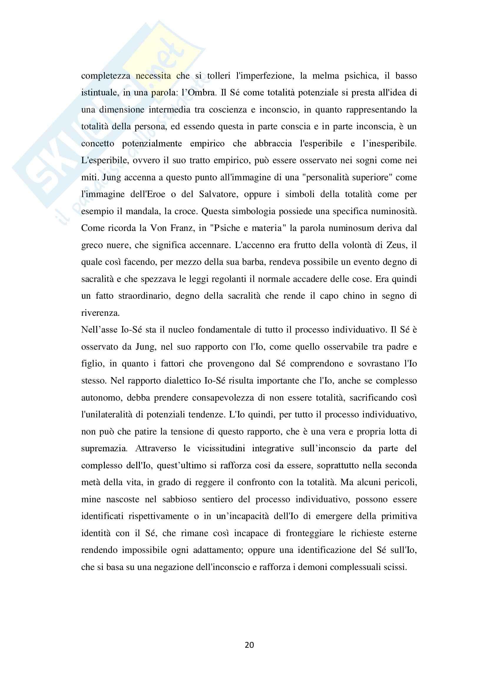 Psicologia analitica  - Empiria dell archetipo Pag. 21