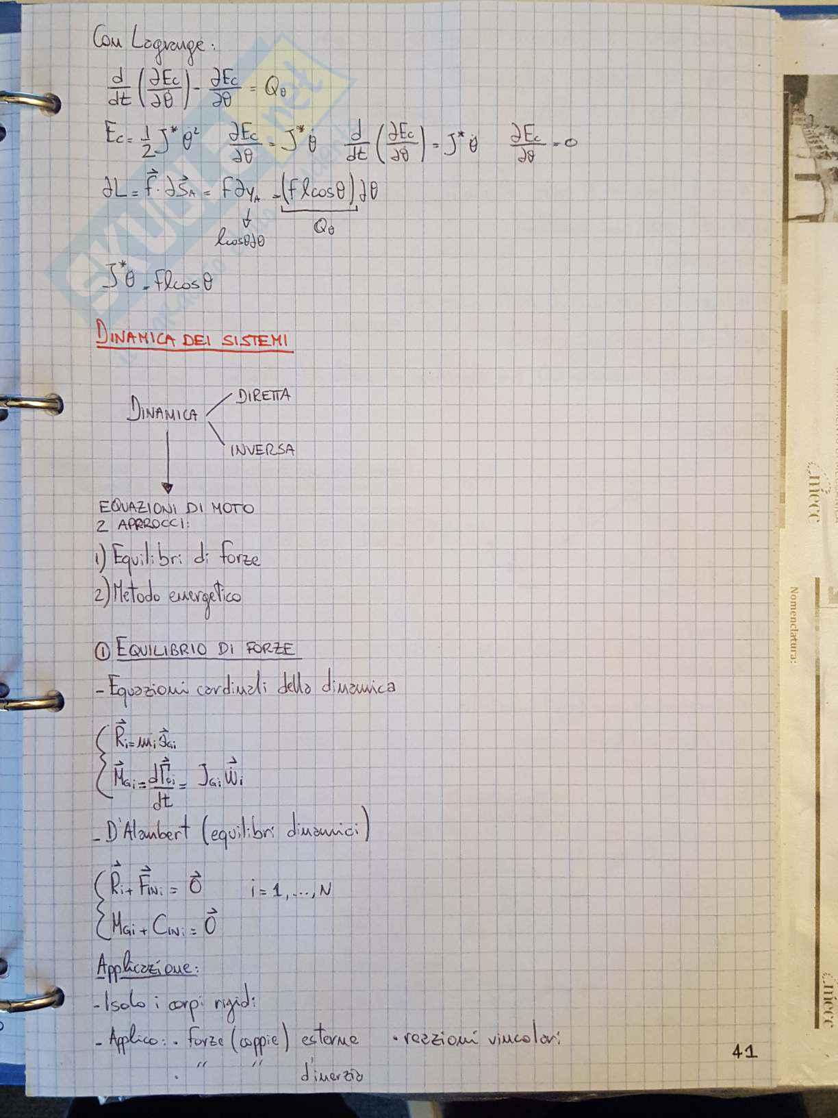 Appunti di Meccanica applicata alle macchine - Lezione Pag. 41