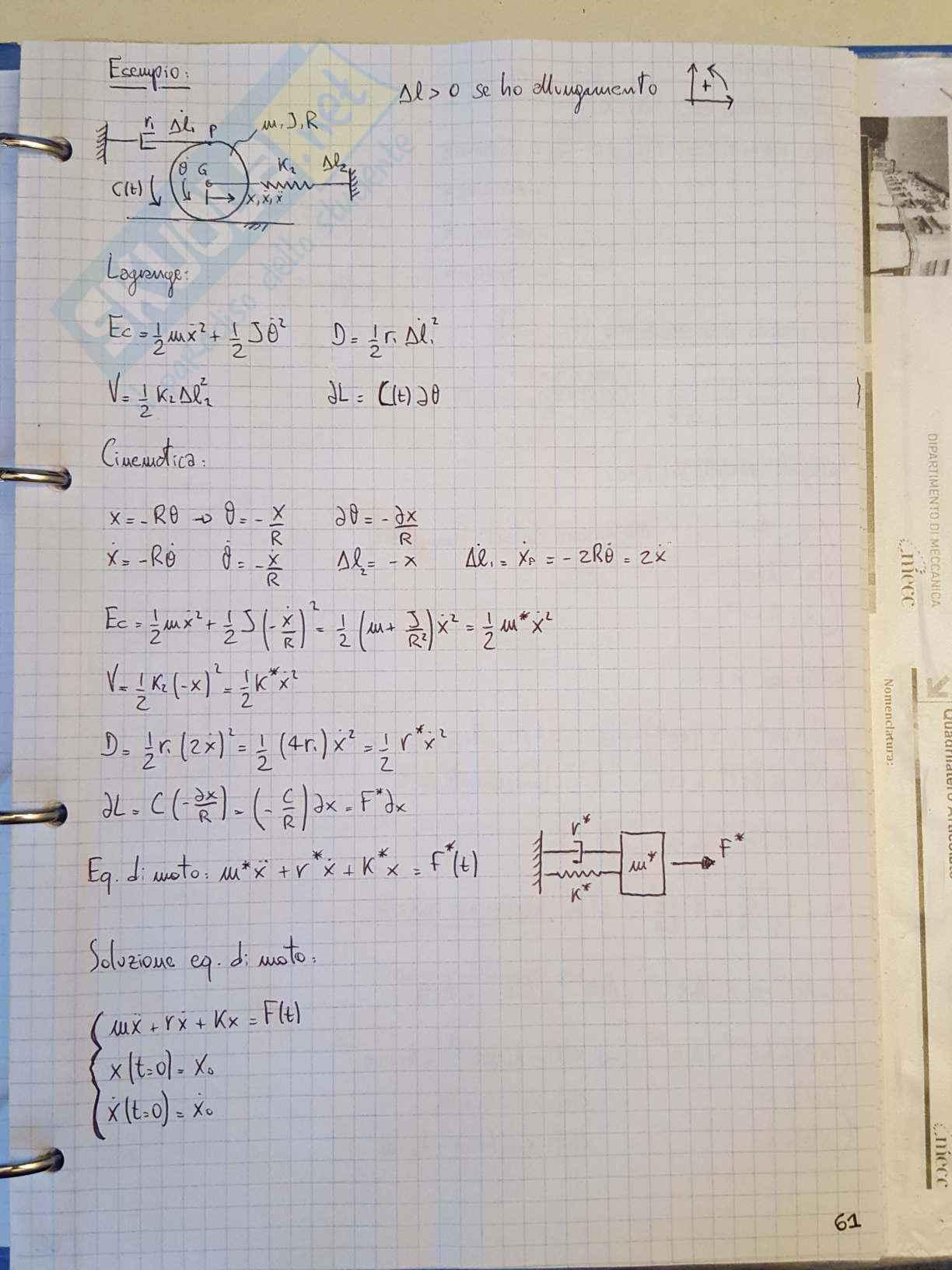 Appunti di Meccanica applicata alle macchine - Lezione Pag. 61