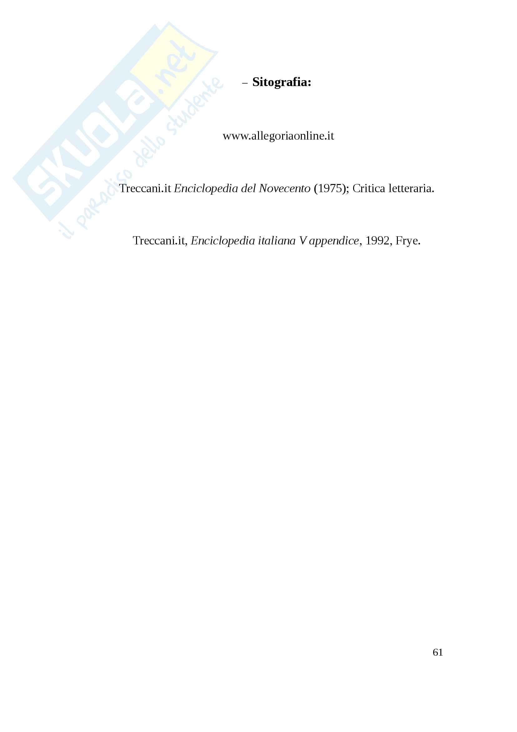Un metodo critico: Northrop Frye Pag. 61