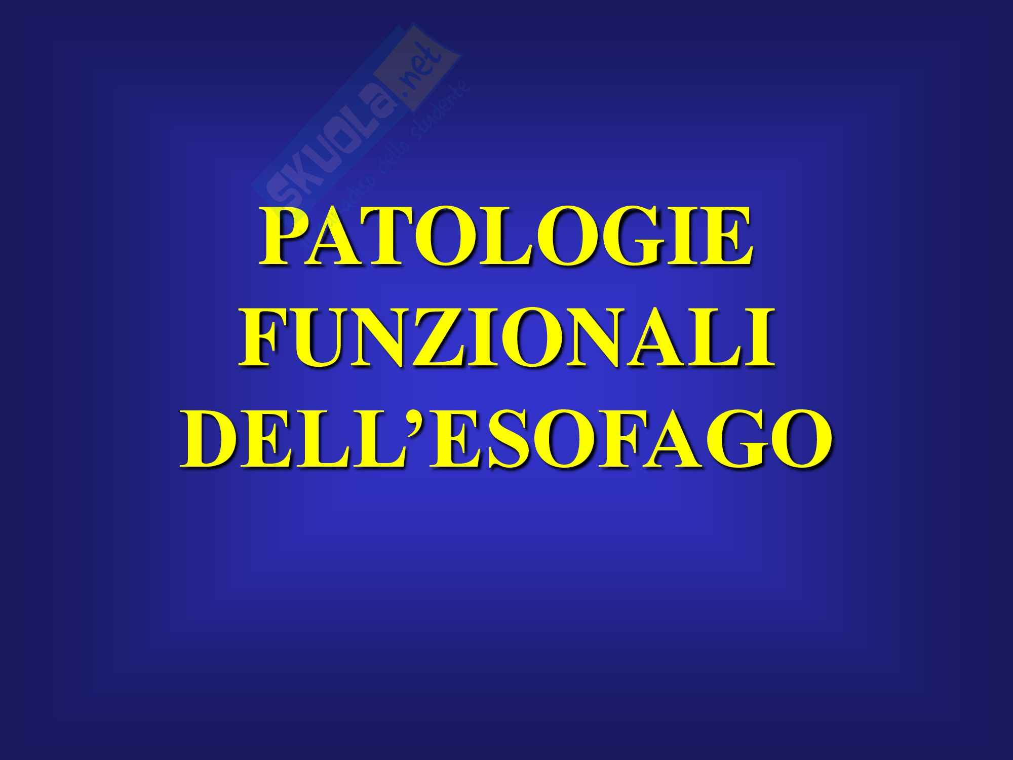 Malattie Funzionali Esofagee