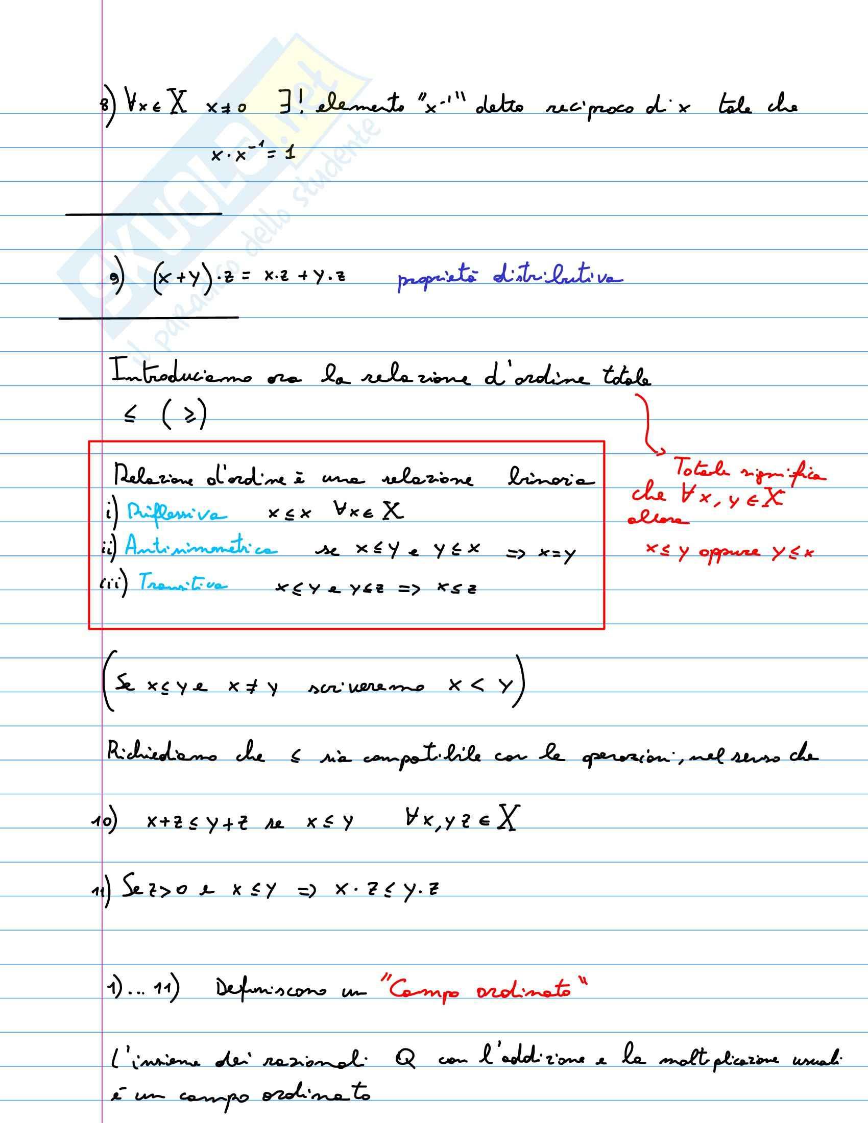 Analisi matematica I - Appunti Pag. 2