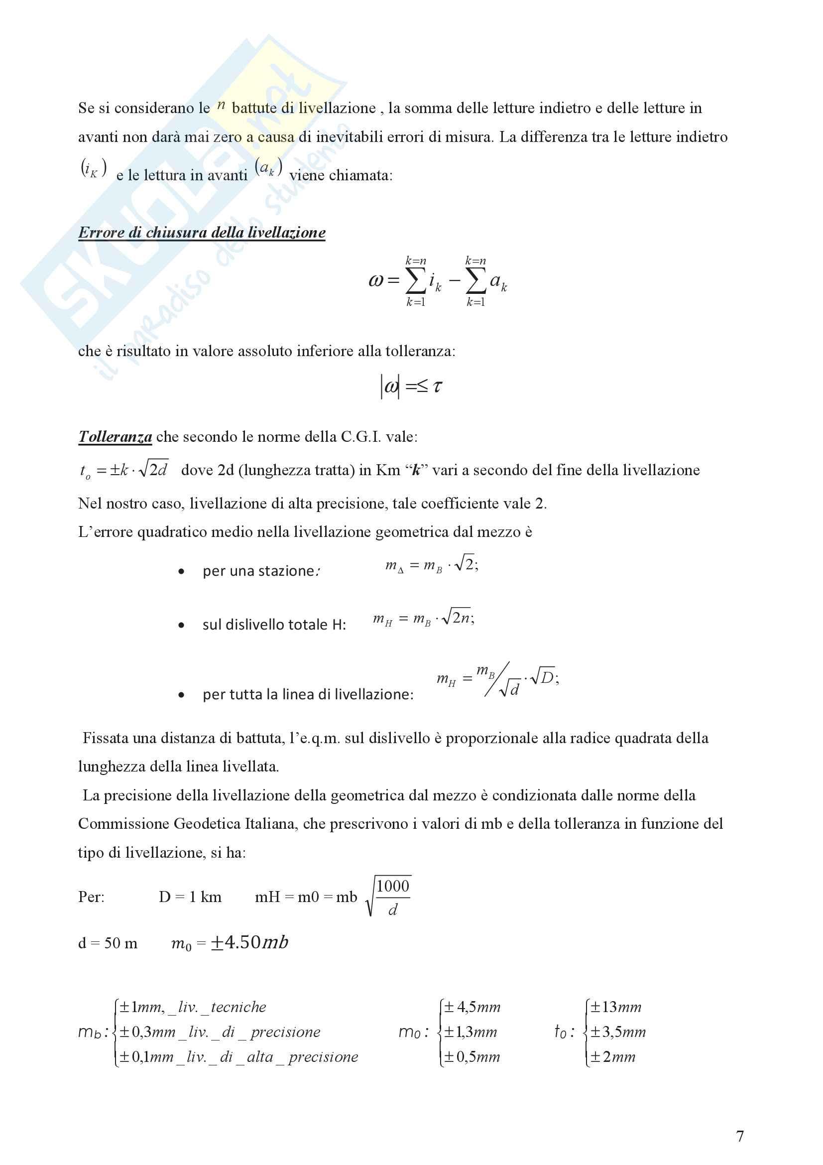 Livellazione geometrica composta dal mezzo Pag. 6
