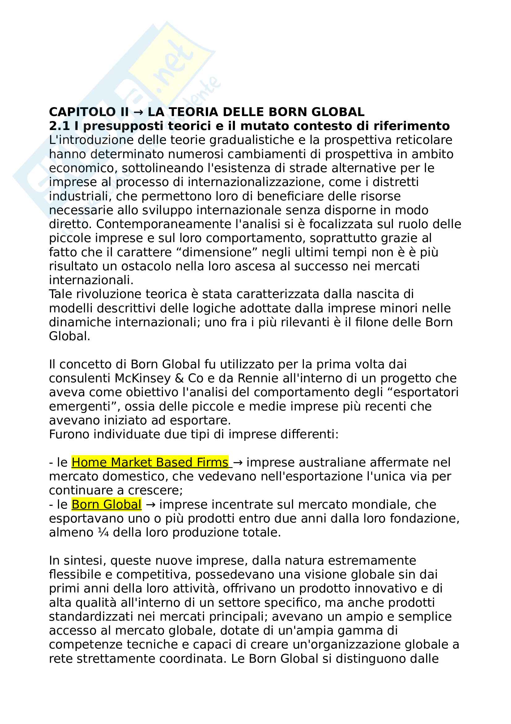 Riassunto esame Marketing, prof. Musso, libro consigliato Strategie e competitività internazionale Pag. 1