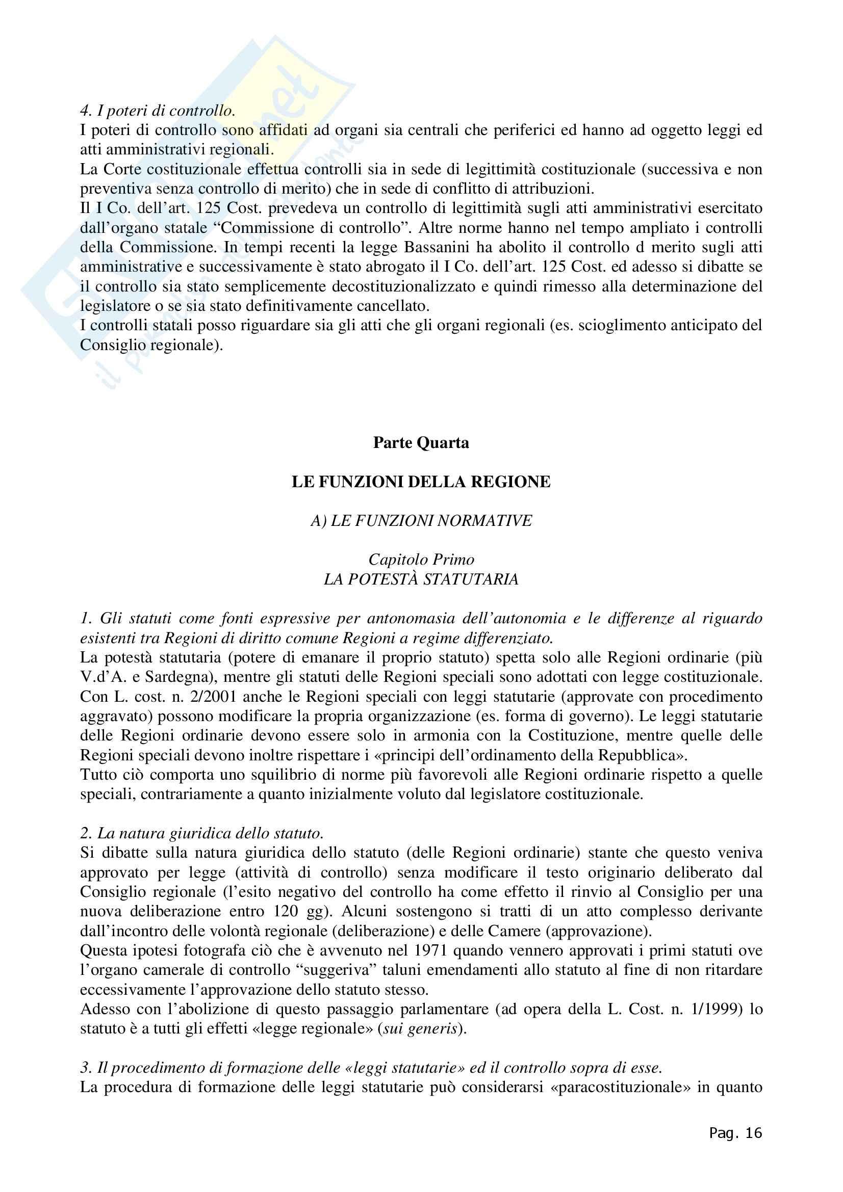 Riassunto esame Diritto Regionale e degli Enti Locali, prof. Cavalieri, libro consigliato, Rolla Pag. 16