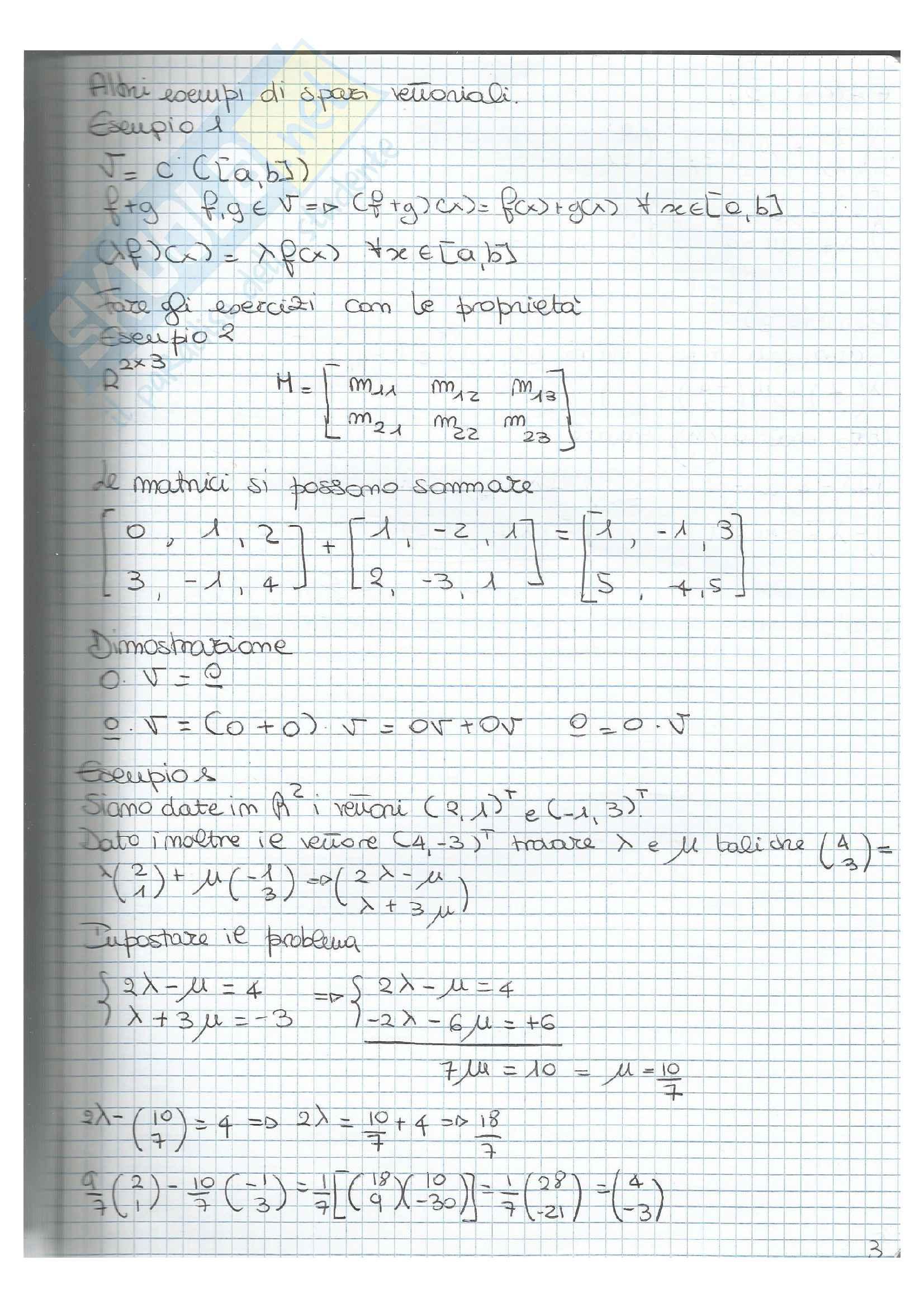 esercizi e appunti di analisi 2