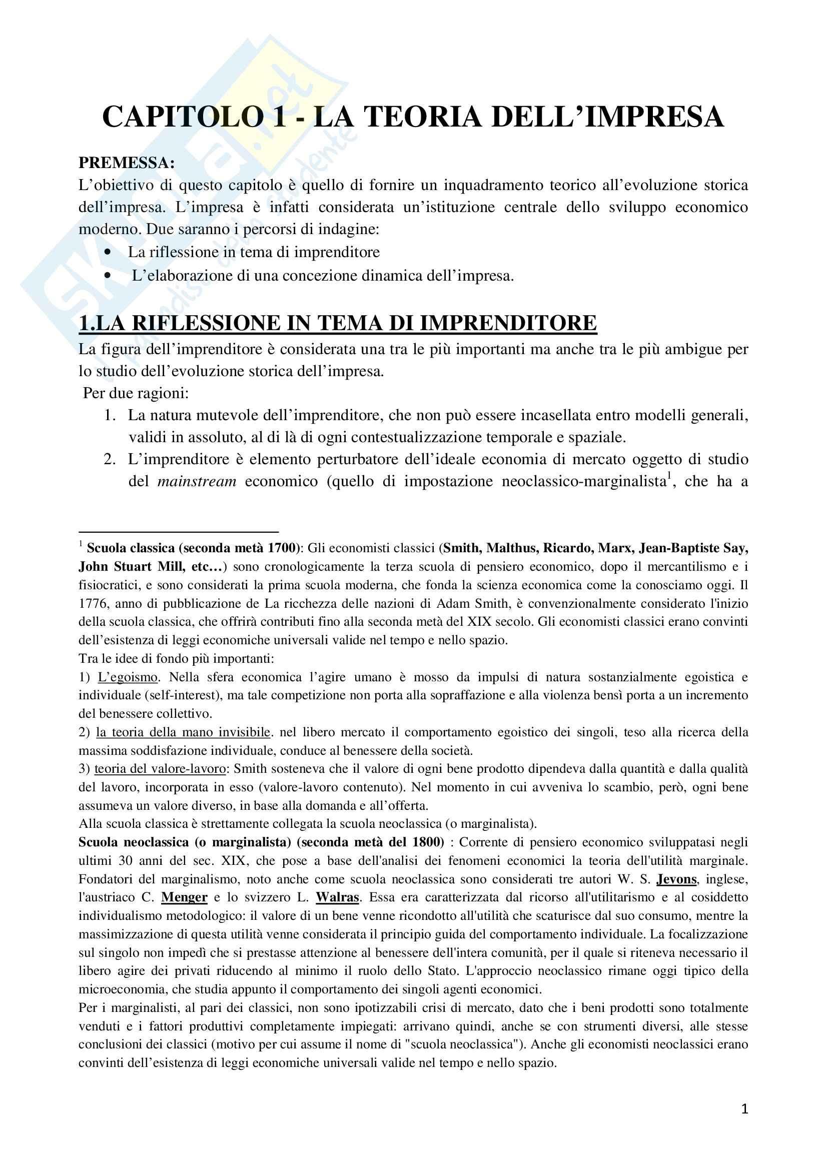 Riassunto esame Storia dell'Impresa, prof. Colonna, libro consigliato Storia dell'Impresa, Toninelli