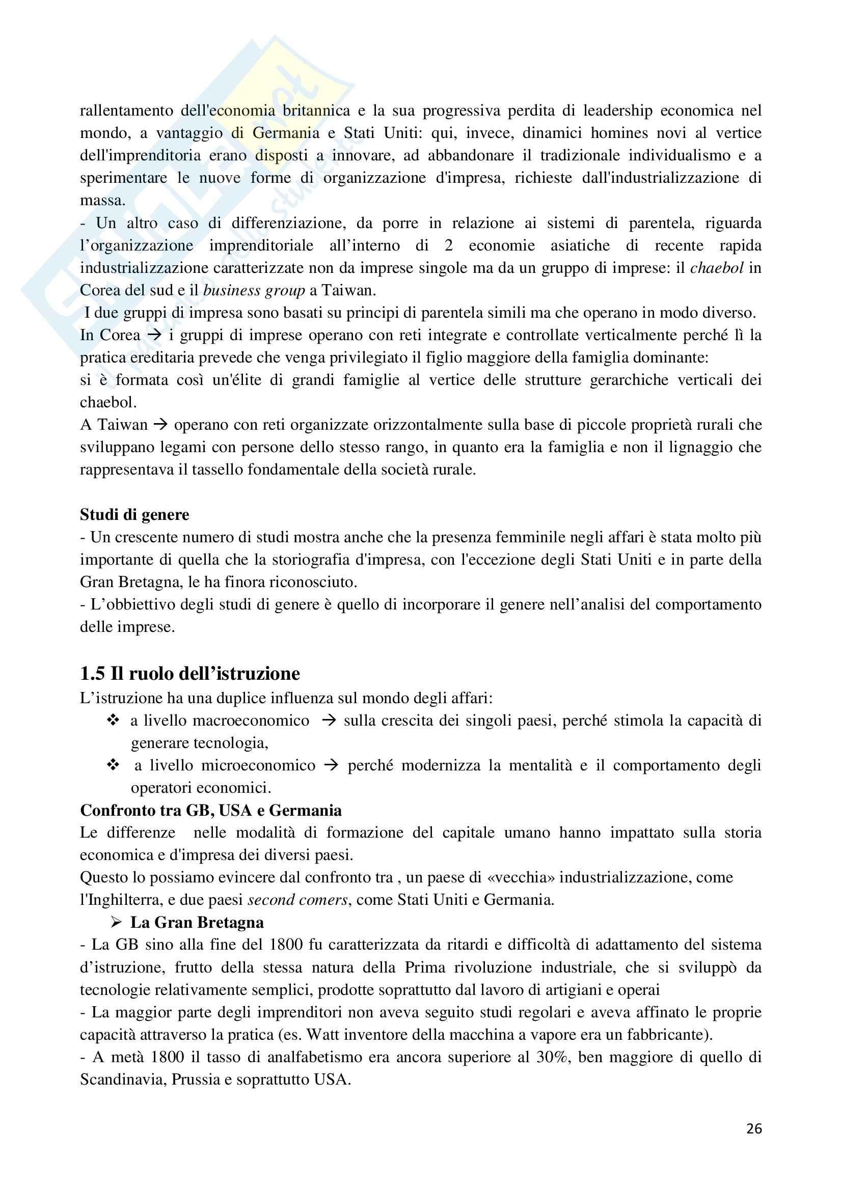 Riassunto esame Storia dell'Impresa, prof. Colonna, libro consigliato Storia dell'Impresa, Toninelli Pag. 26