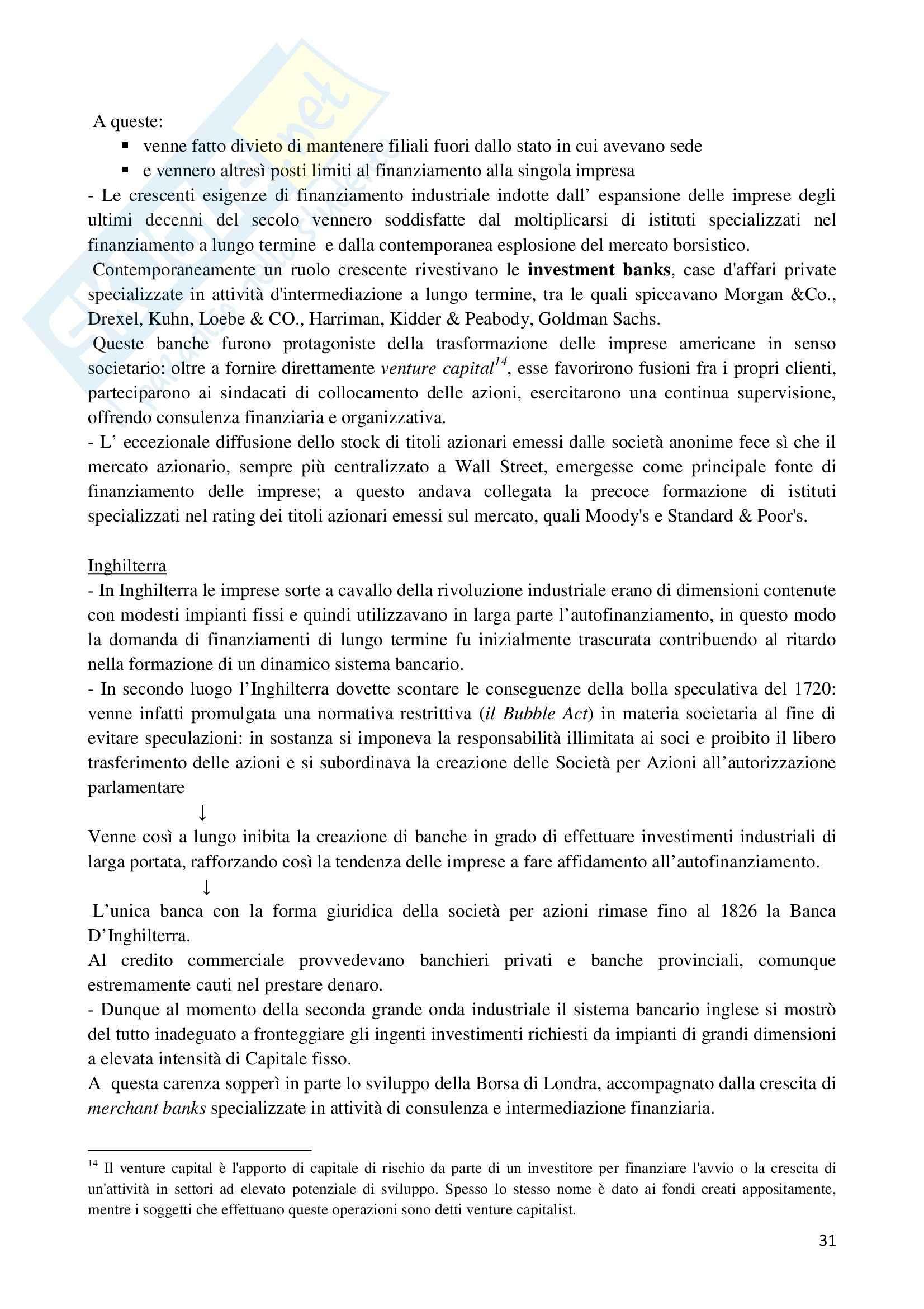 Riassunto esame Storia dell'Impresa, prof. Colonna, libro consigliato Storia dell'Impresa, Toninelli Pag. 31