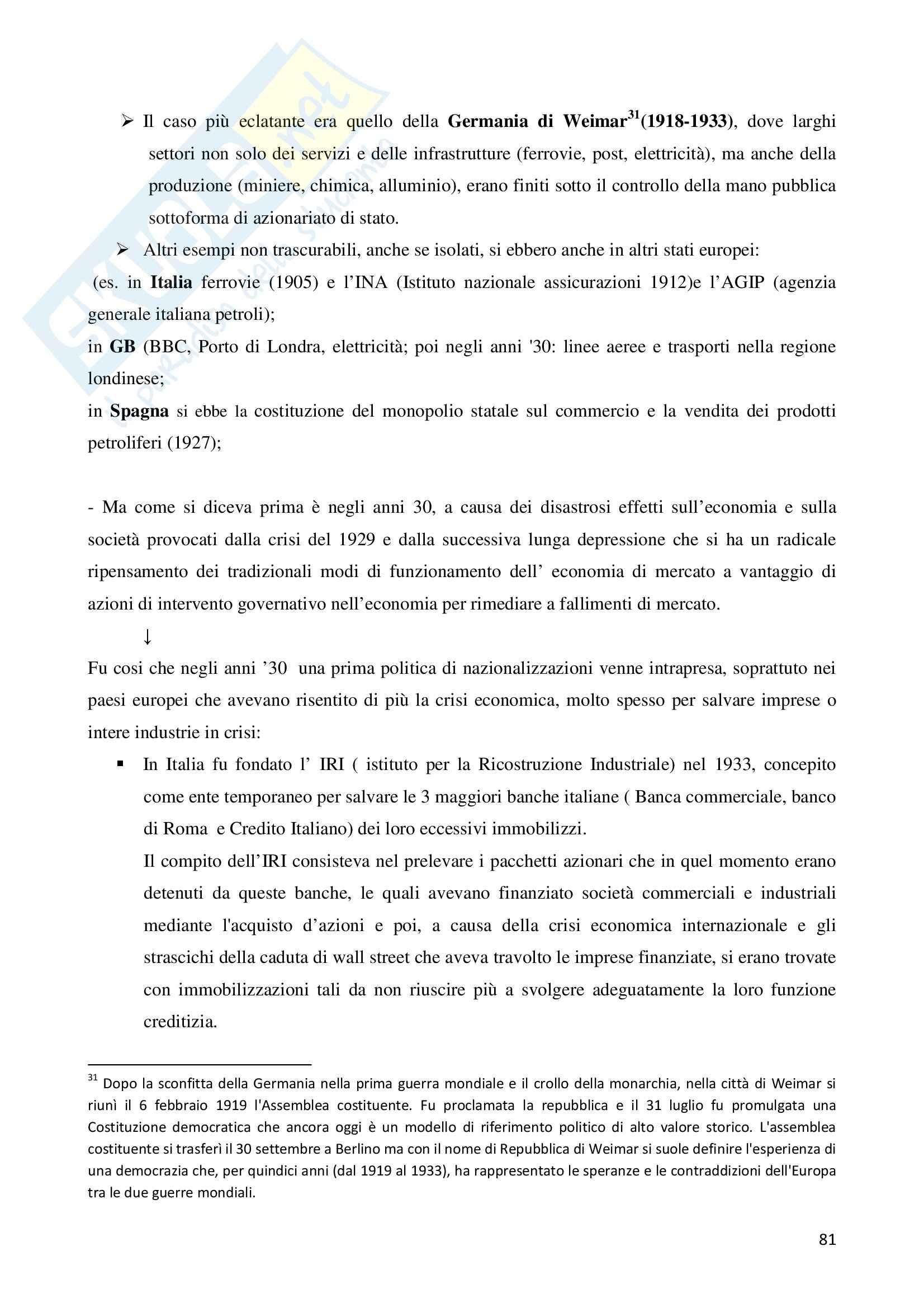 Riassunto esame Storia dell'Impresa, prof. Colonna, libro consigliato Storia dell'Impresa, Toninelli Pag. 81