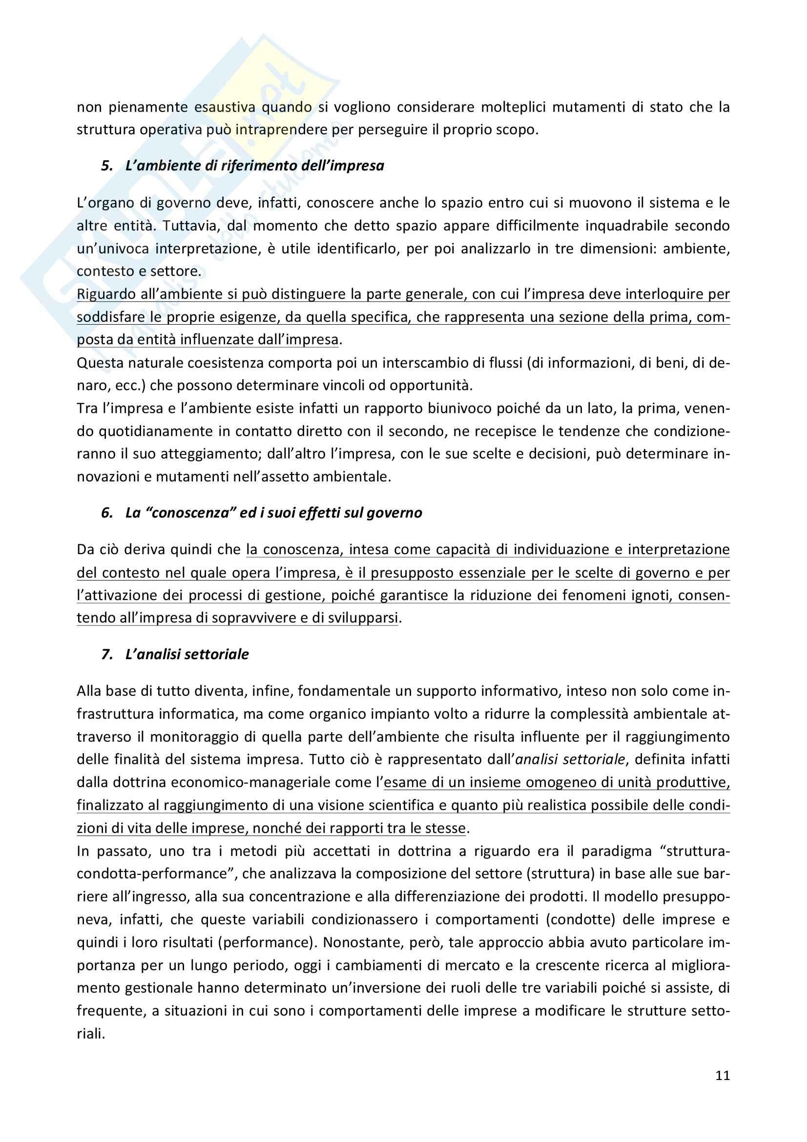 Riassunto esame Economia e gestione delle imprese, prof. Iaffaldano, libro consigliato La gestione d'impresa, Scicutella Pag. 11
