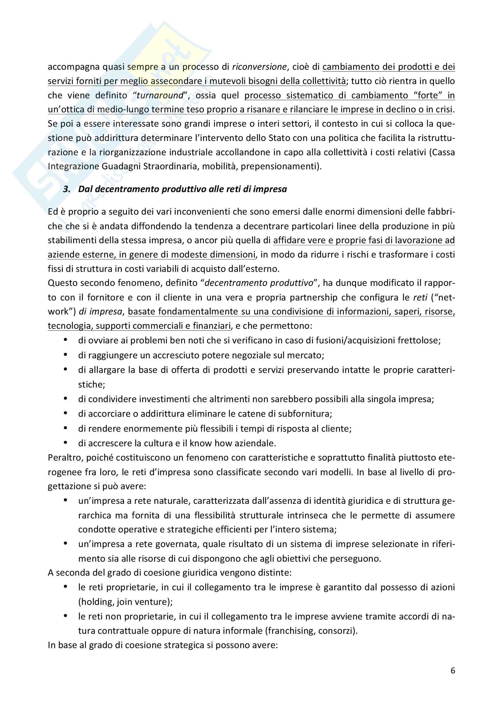 Riassunto esame Economia e gestione delle imprese, prof. Iaffaldano, libro consigliato La gestione d'impresa, Scicutella Pag. 6