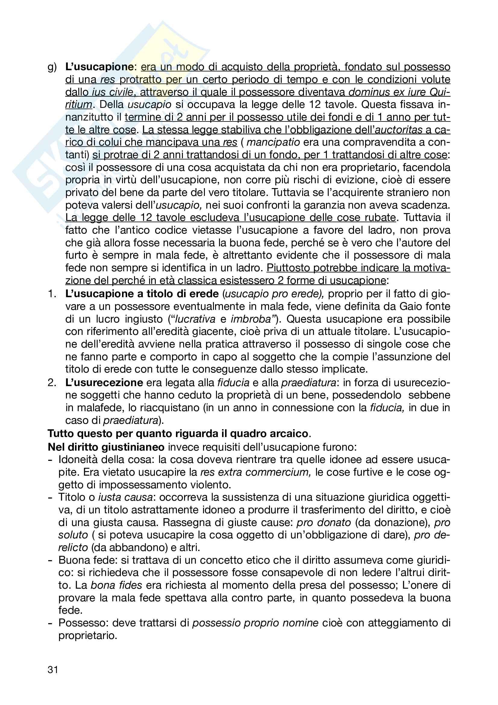 Riassunti Istituzioni diritto romano Pag. 31