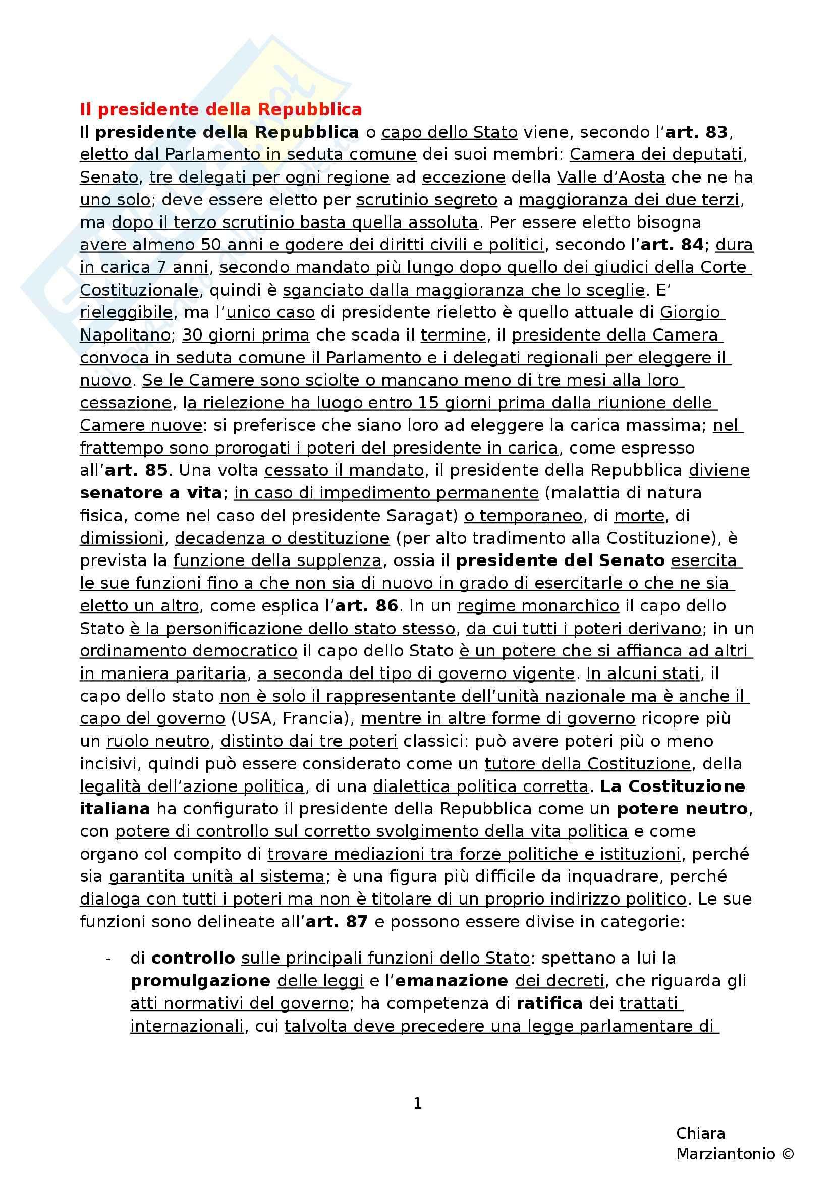 Riassunto esame Istituzioni di Diritto Pubblico, prof. Corsi, libro consigliato Corso di Diritto Pubblico, Barbera, Fusaro - cap. 10