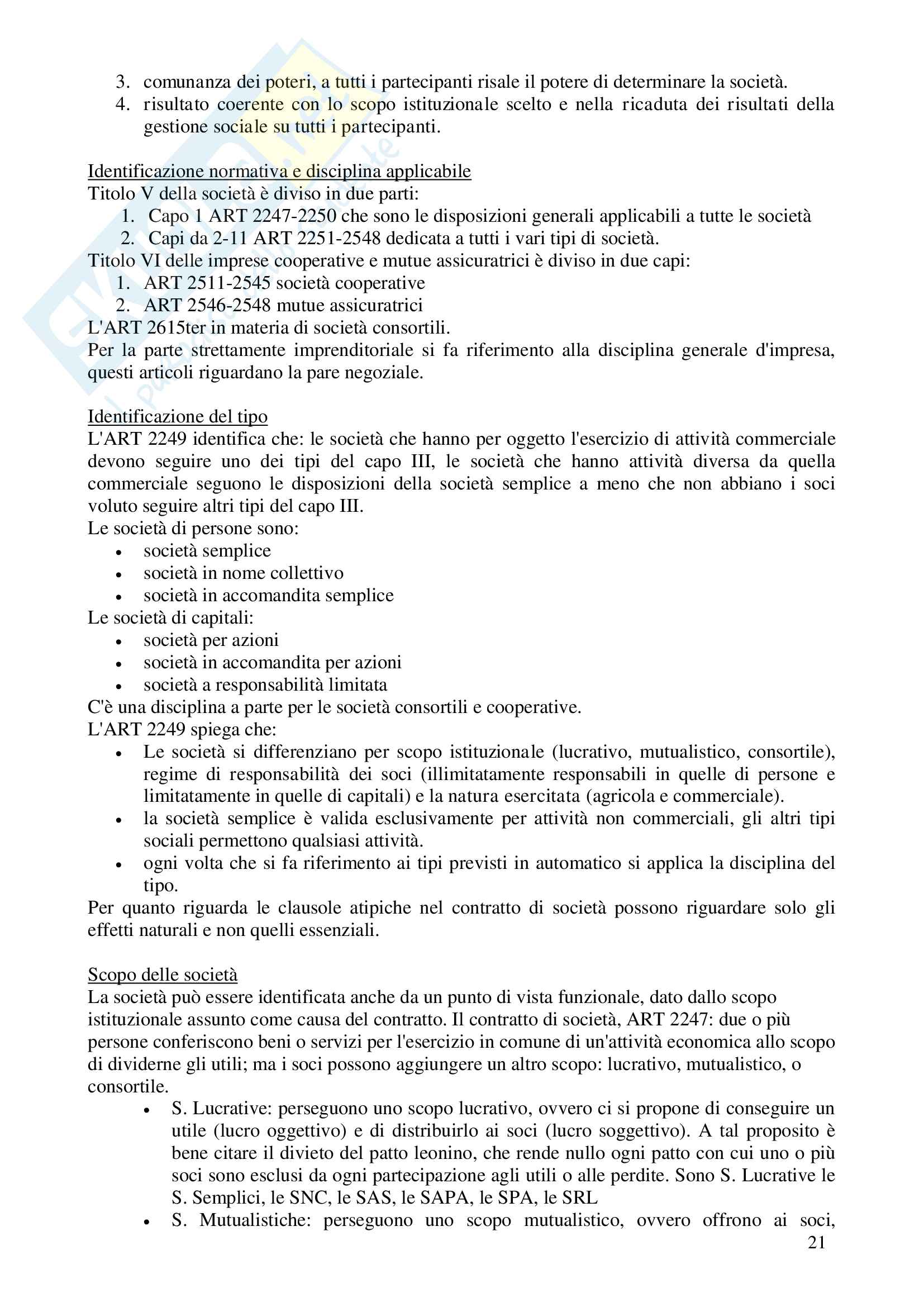 Diritto commerciale e domande d'esame Valensise Pag. 21