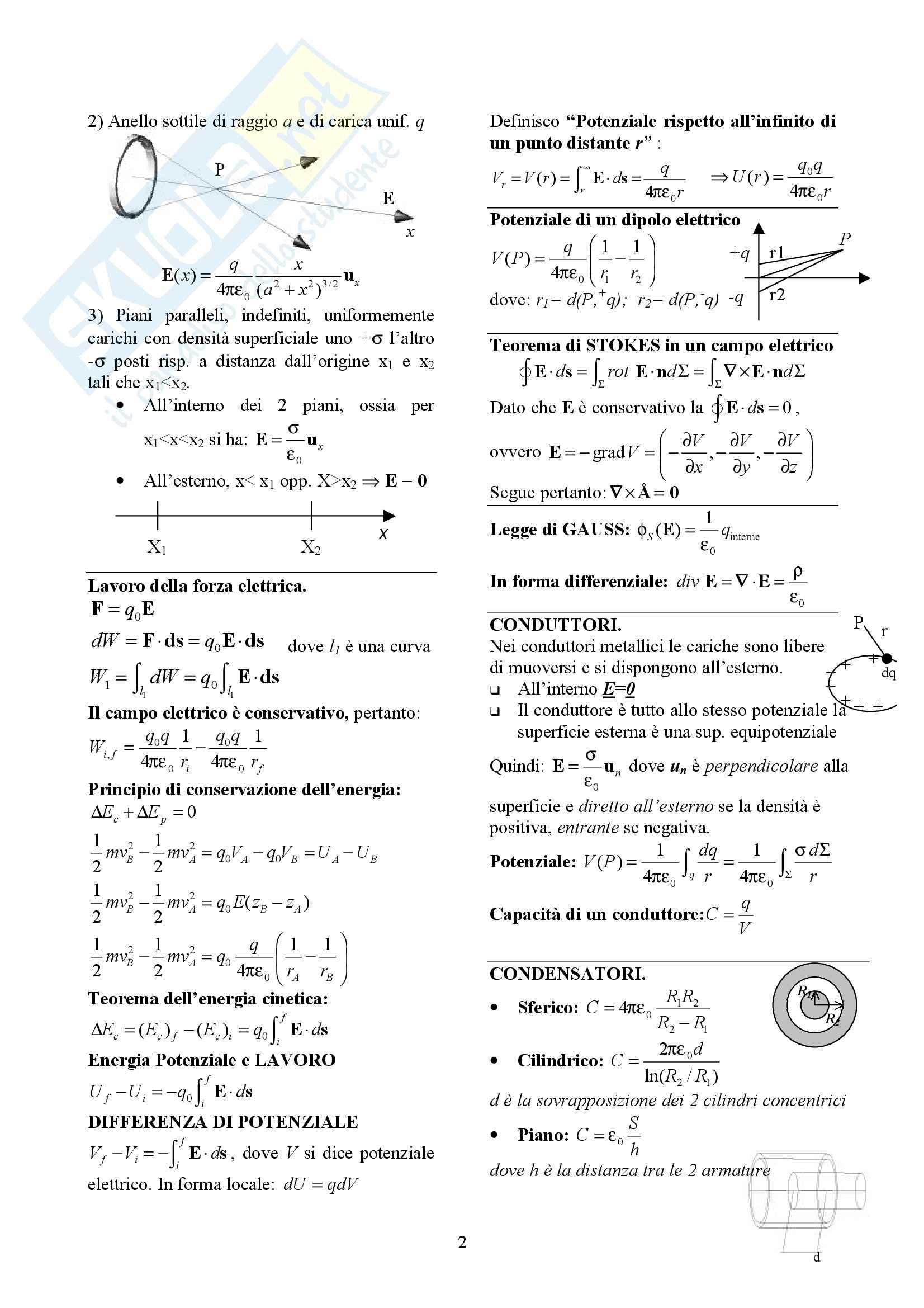 Fisica generale II - Formulario Pag. 2