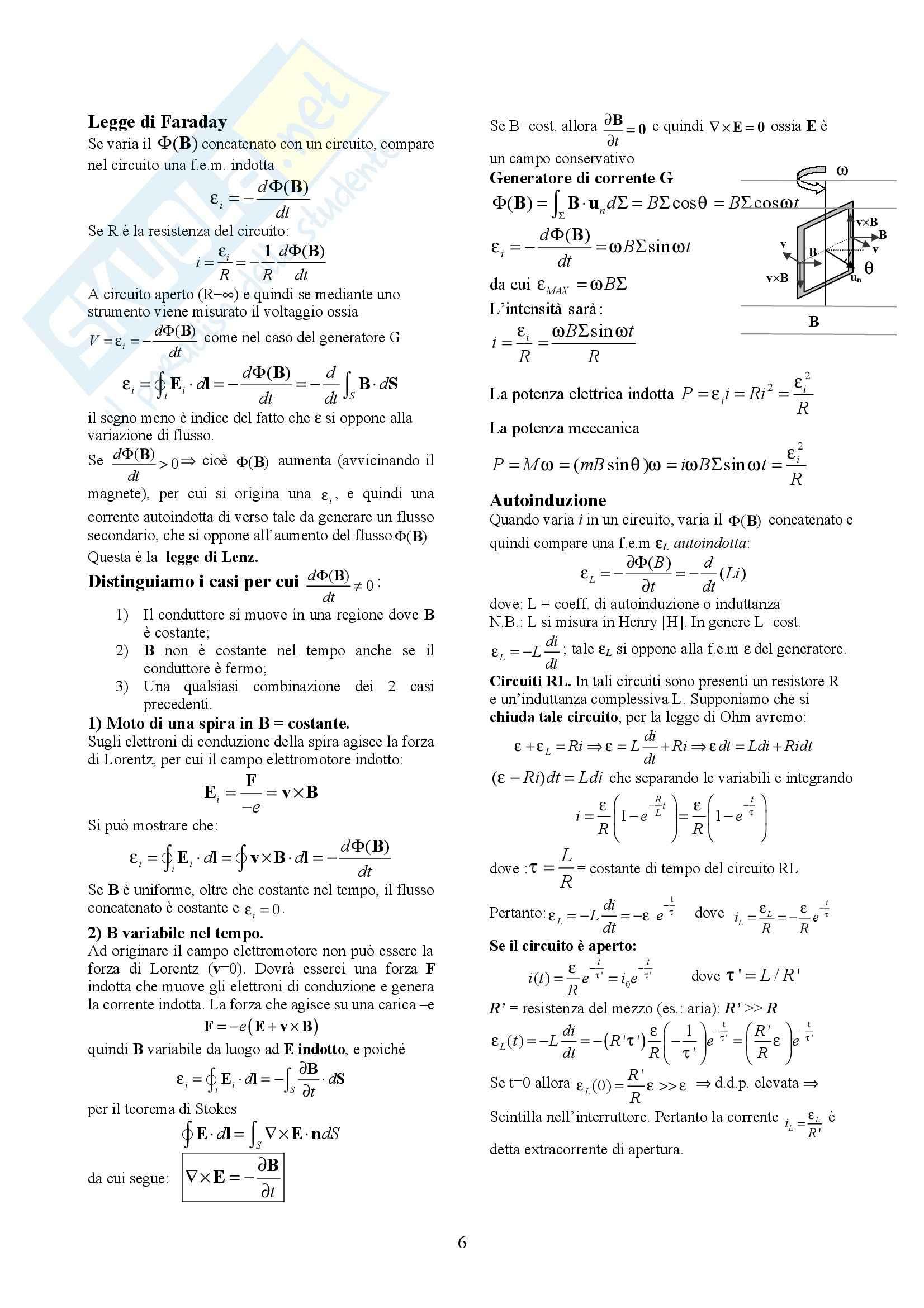 Fisica generale II - Formulario Pag. 6